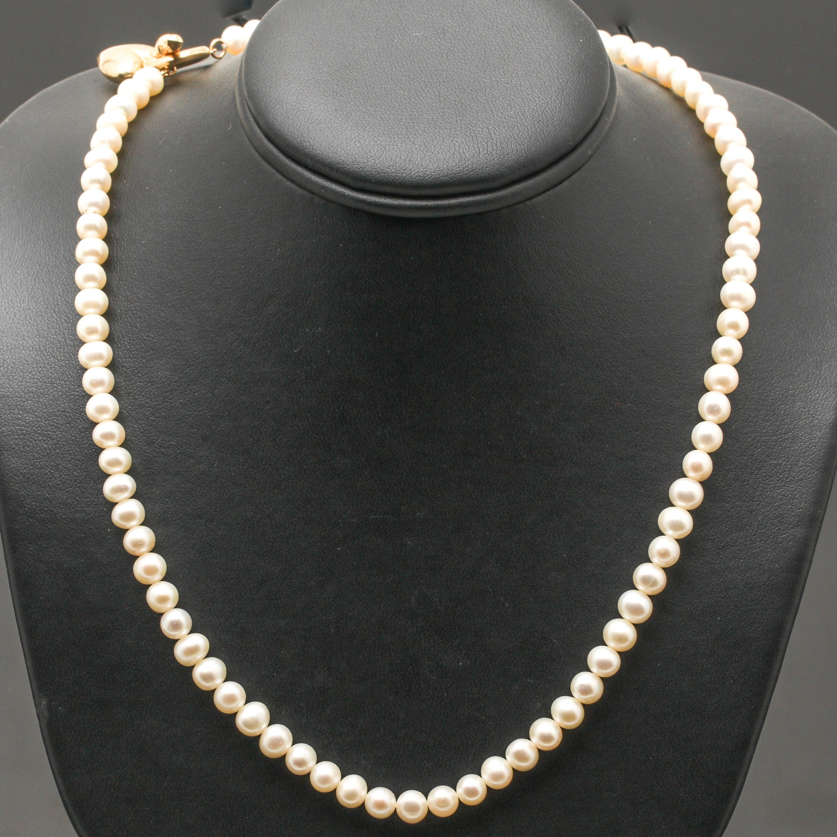 14K Yellow Gold Pearl Strand Necklace