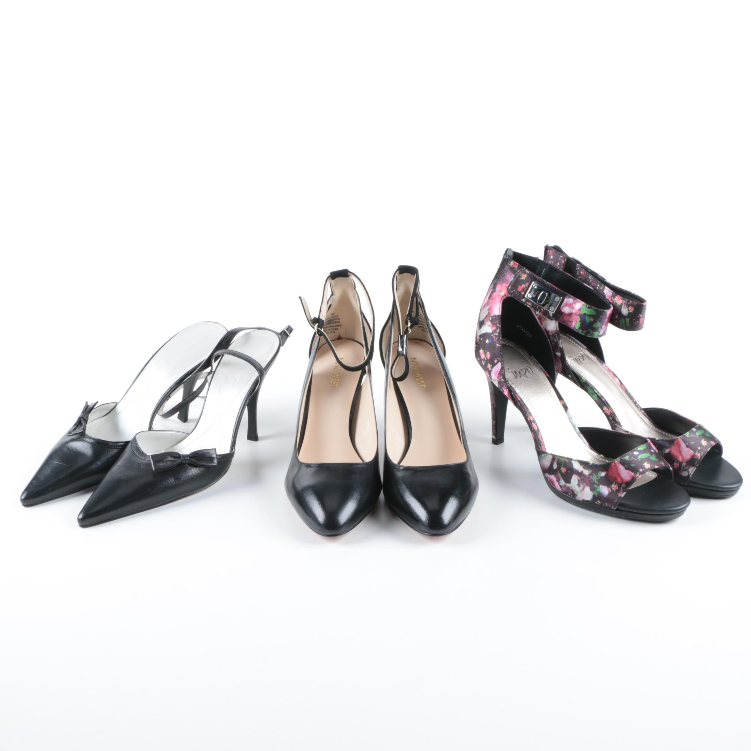 Women's Nine West, BCBGirls and Impo Heels