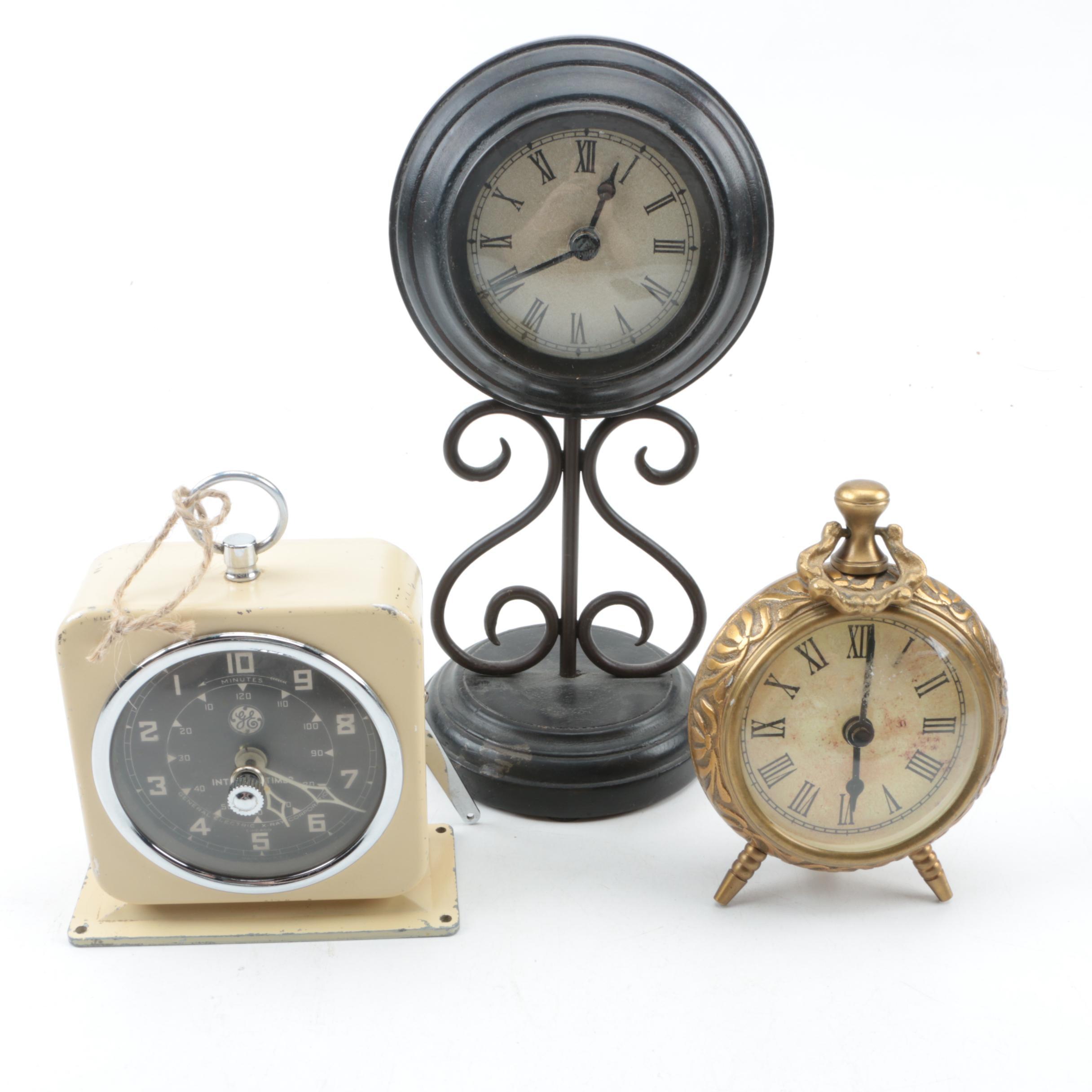 Vintage Shelf Clocks Featuring GE