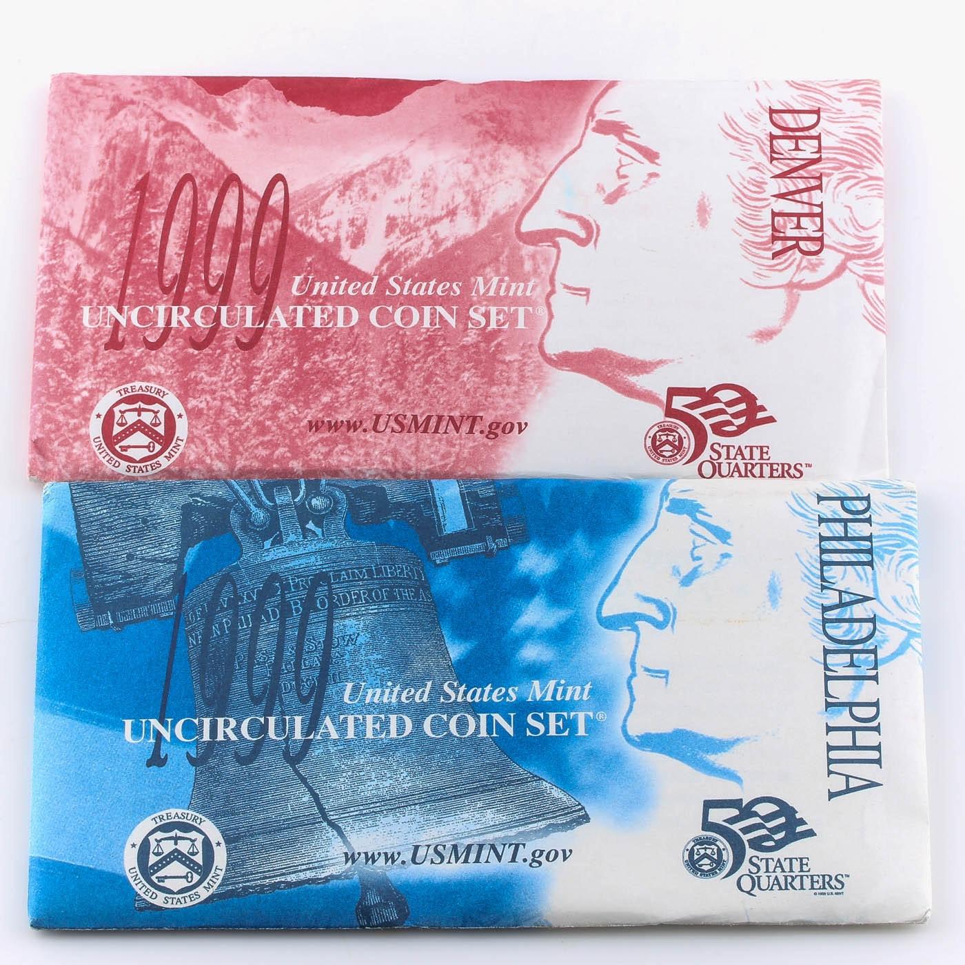 1999 United States Uncirculated Denver and Philadelphia Mint Set
