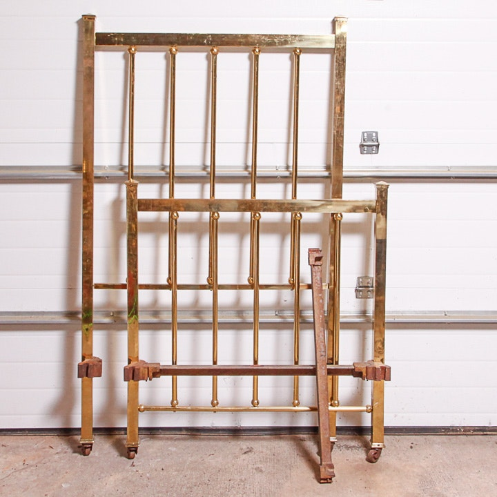 Brass Colored Twin Sized Bed Frame
