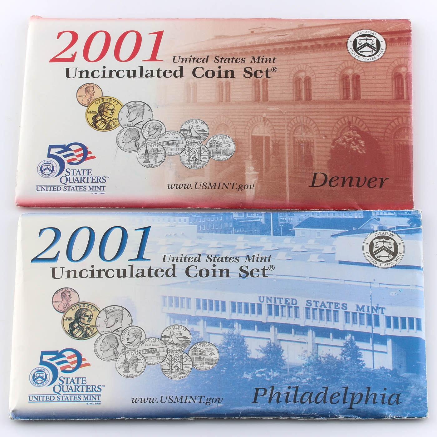 2001 United States Uncirculated Denver and Philadelphia Mint Set