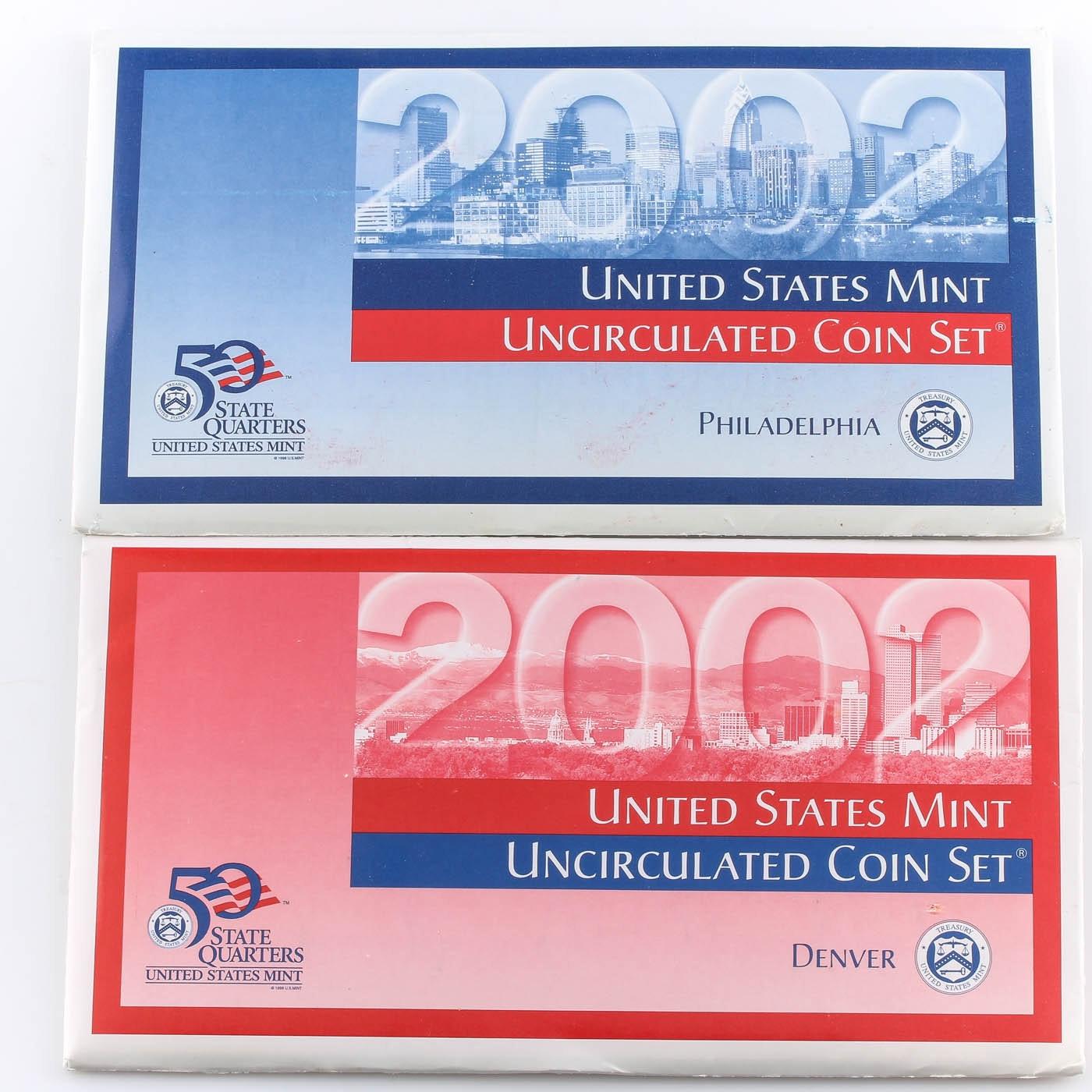 2002 United States Uncirculated Denver and Philadelphia Mint Set