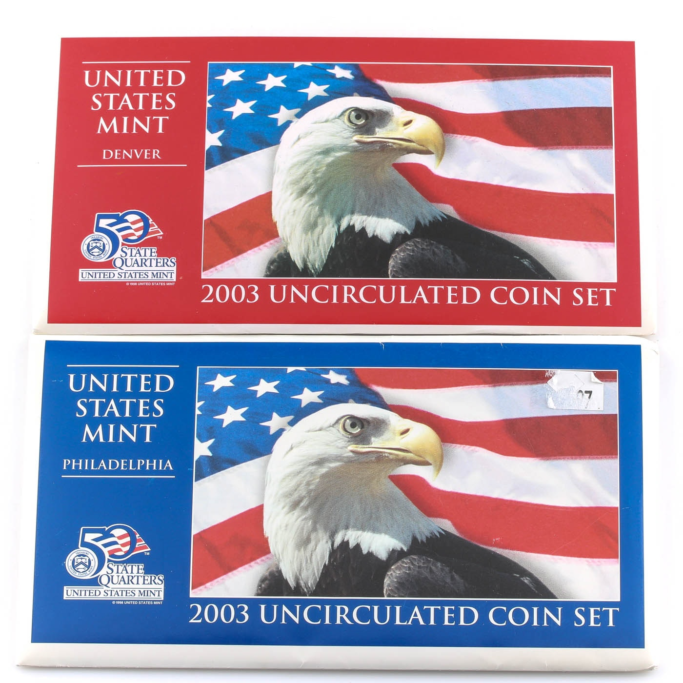 2003 United States Uncirculated Denver and Philadelphia Mint Set