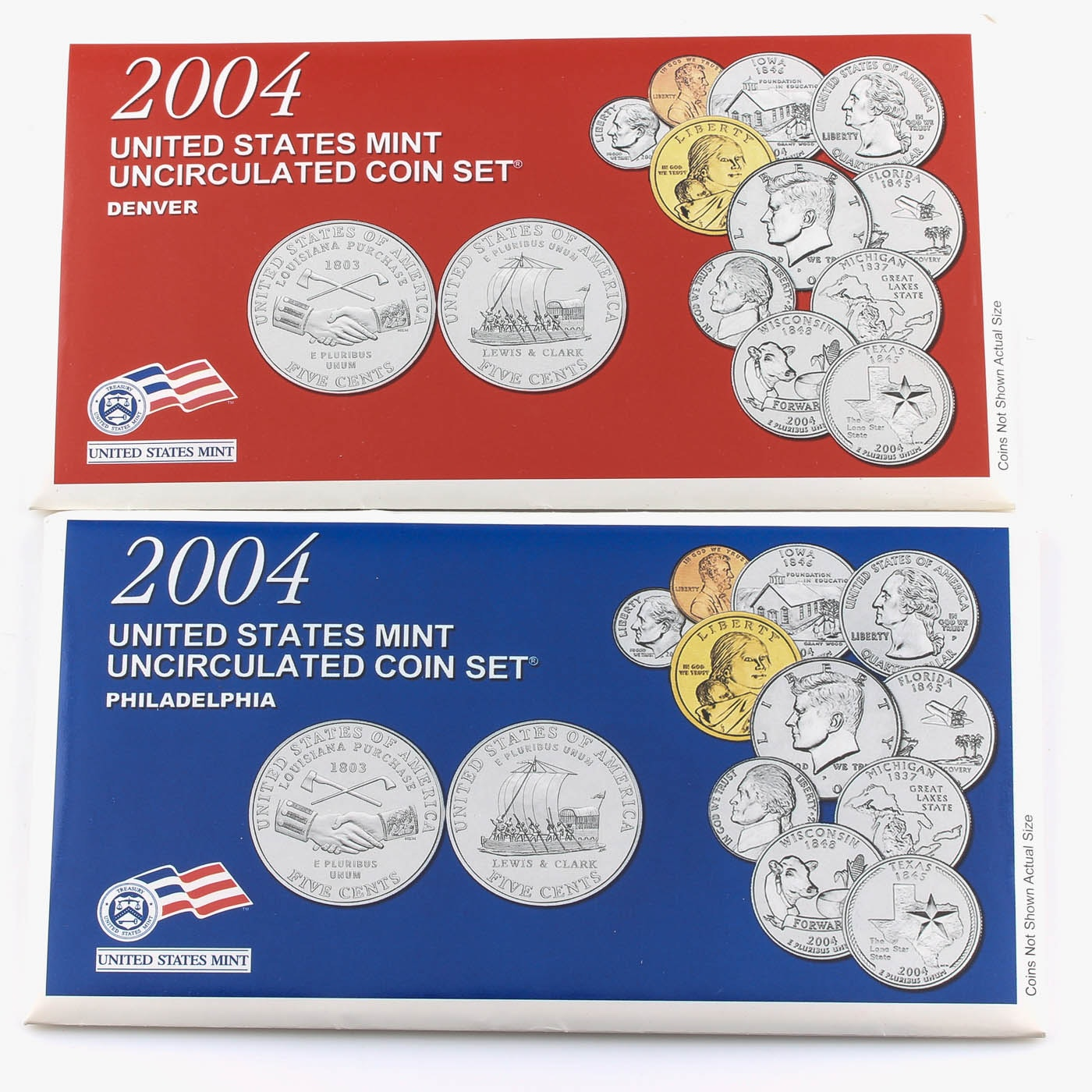 2004 United States Uncirculated Denver and Philadelphia Mint Set