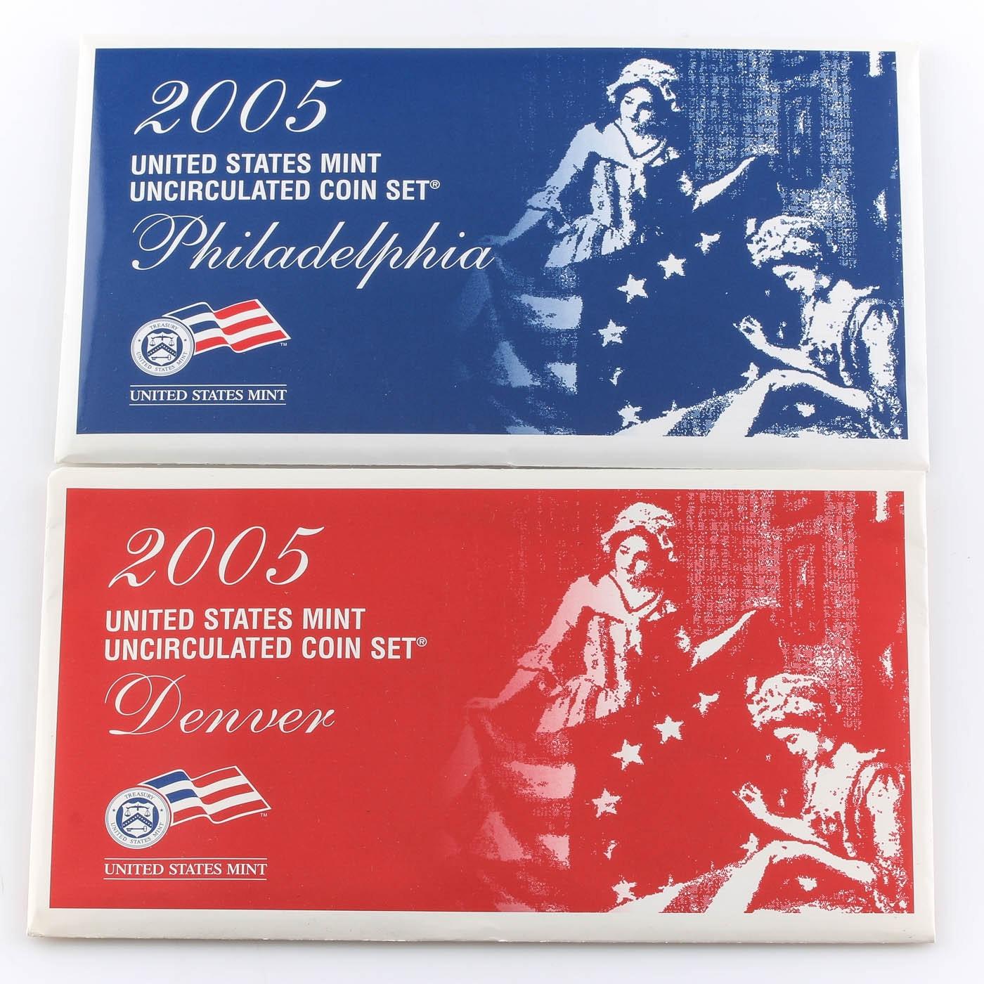 2005 United States Uncirculated Denver and Philadelphia Mint Set
