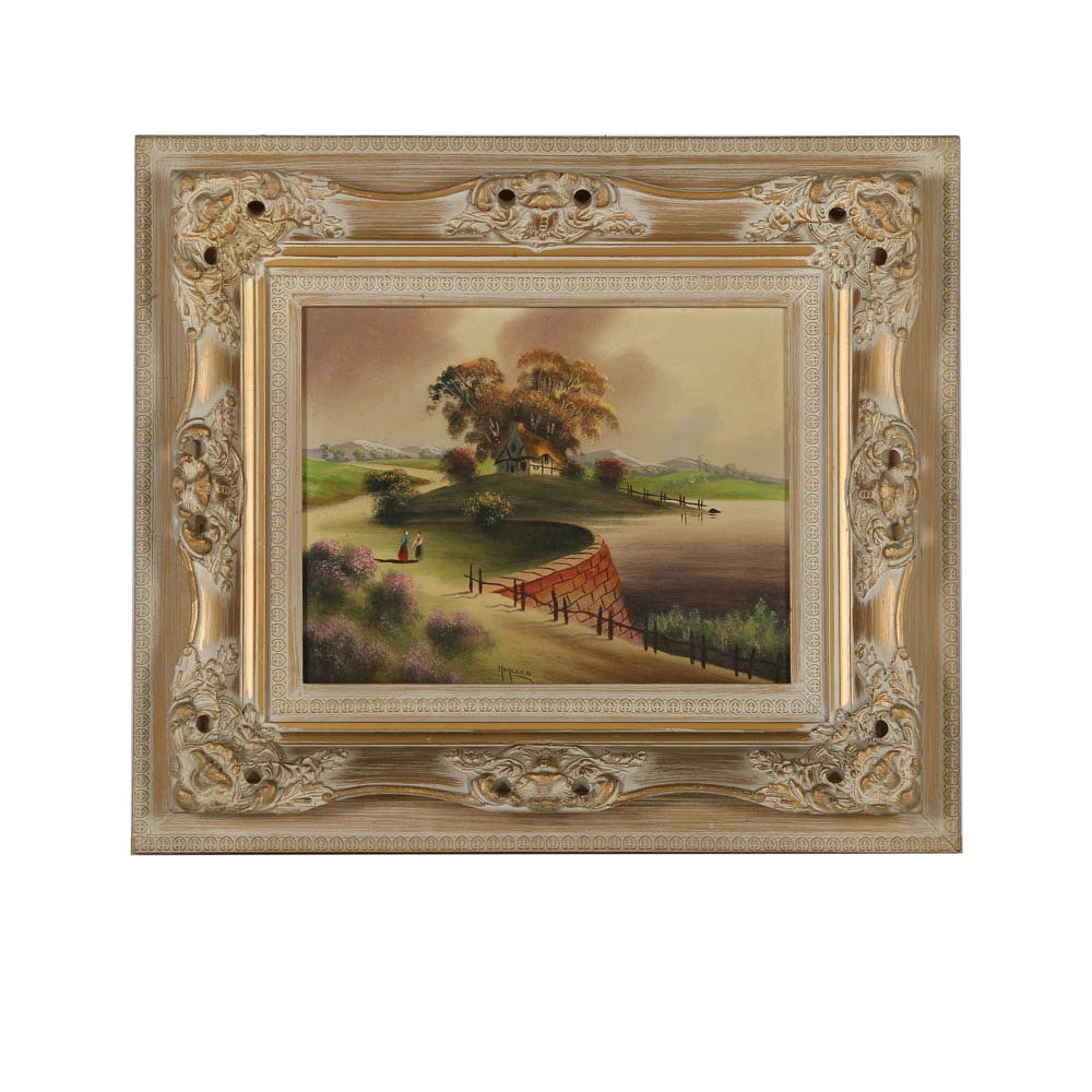 Morezzo Oil Painting of Rural Landscape