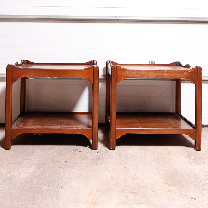 Pair of English Style Mahogany End Tables