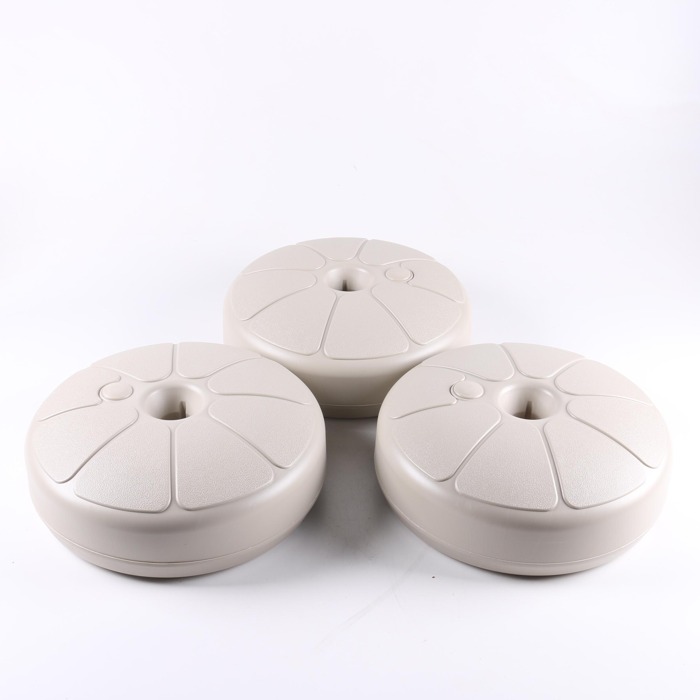Three Taupe Umbrella Bases by Adams