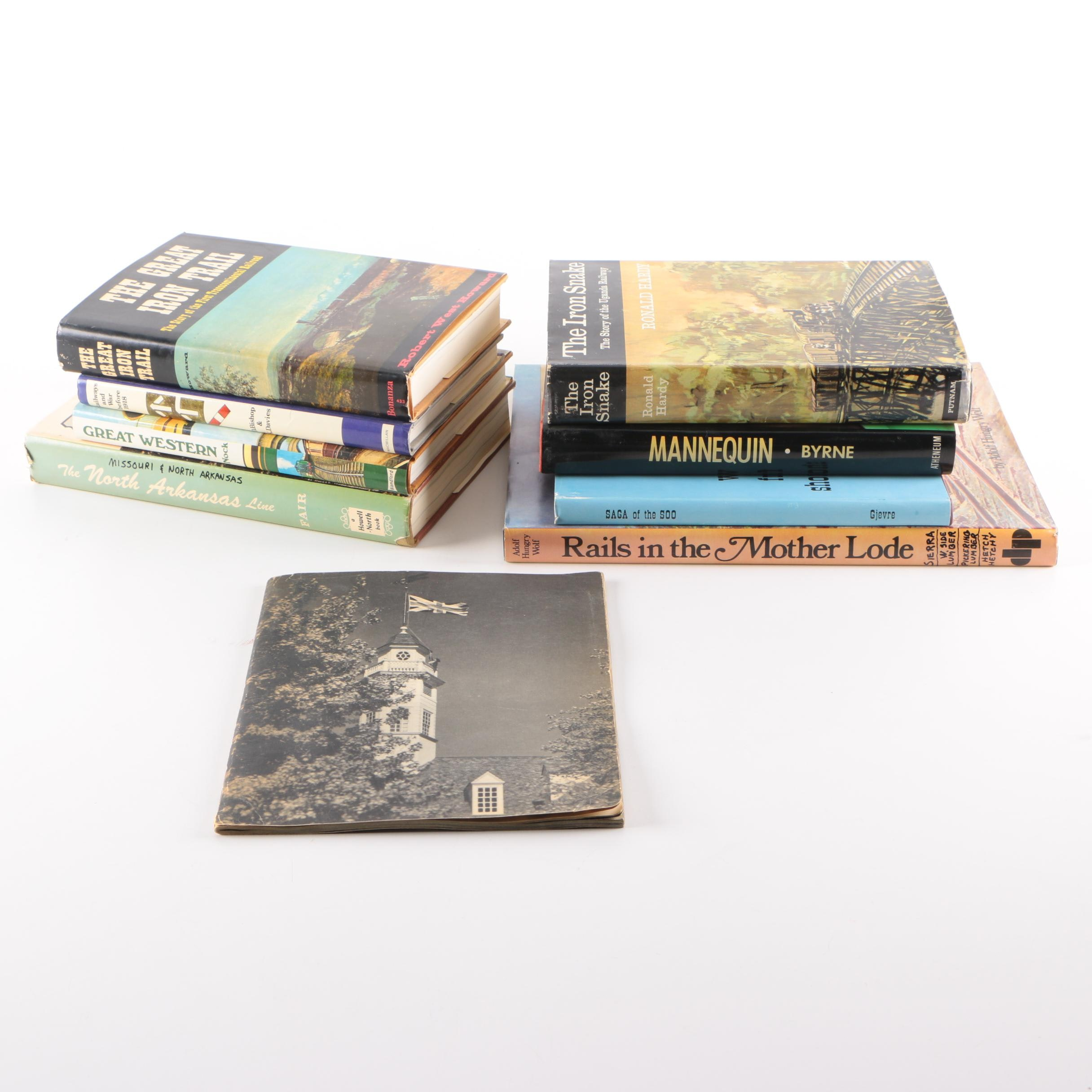 """Assorted Books on Trains and Railways including """"The Great Iron Rail"""""""