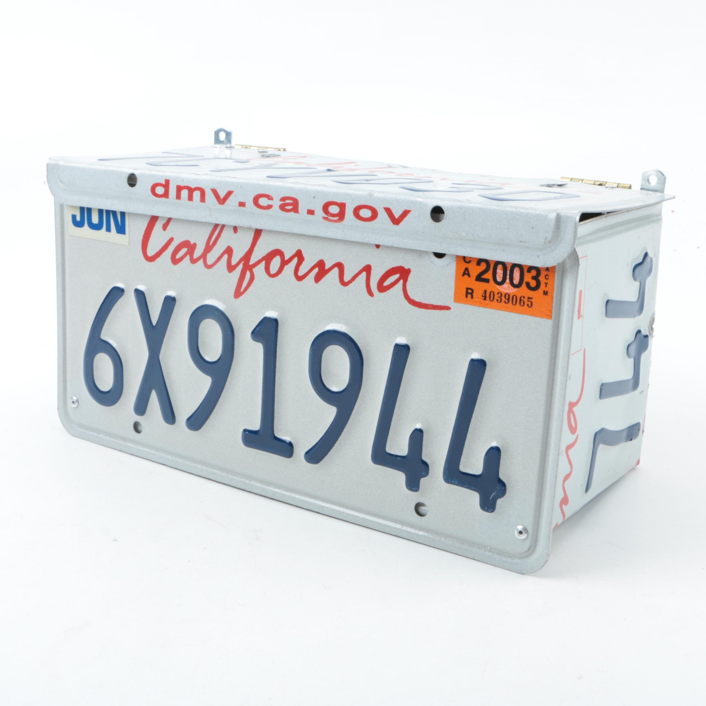 License Plate Decorative Box