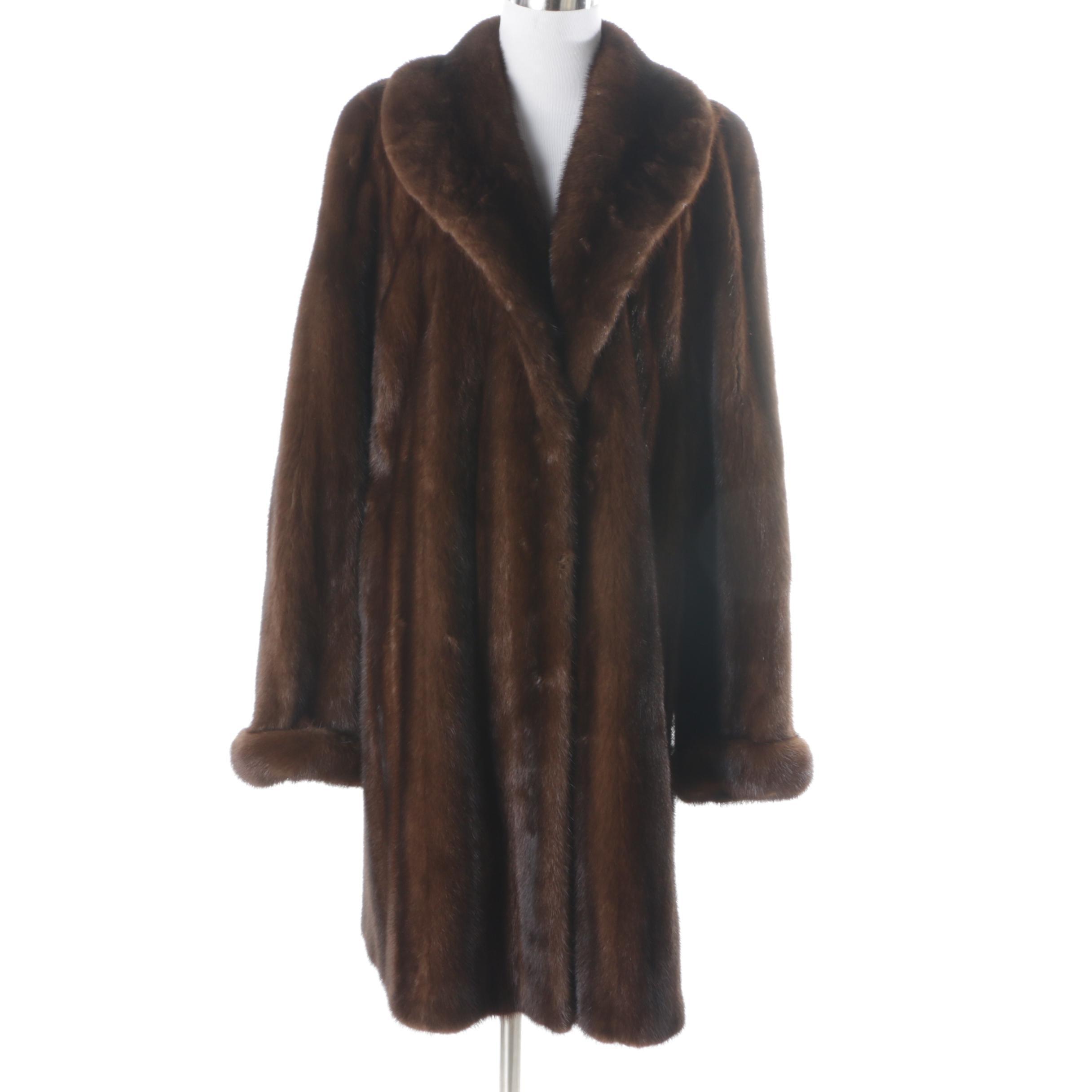 Women's Vintage Birger Christensen Brown Mink Fur Coat