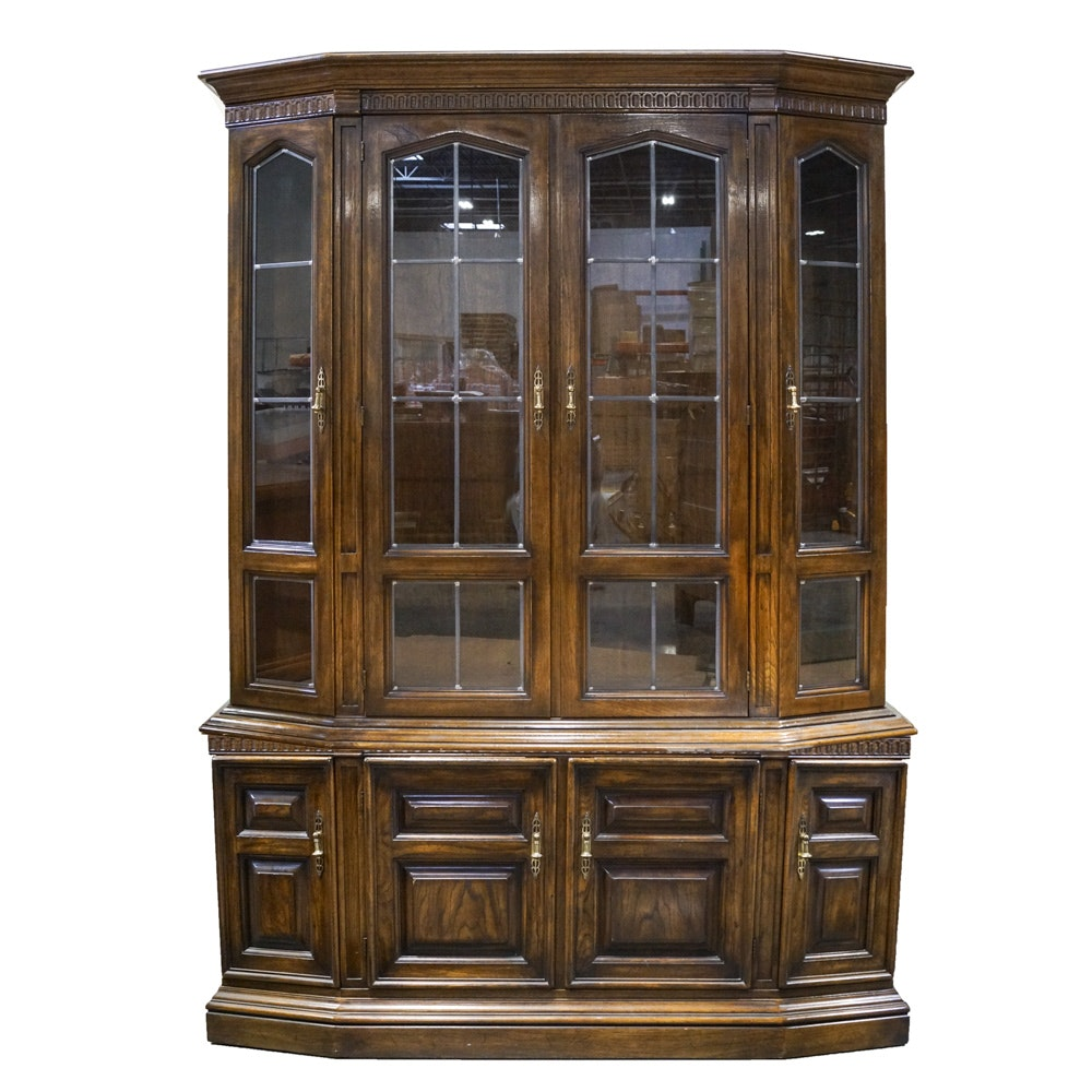 Walnut Finished China Display Cabinet by Drexel