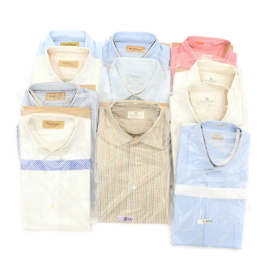 c046c4f7 Collection of Men's Dress Shirts including Paul Stuart and Brooks Brothers  ...