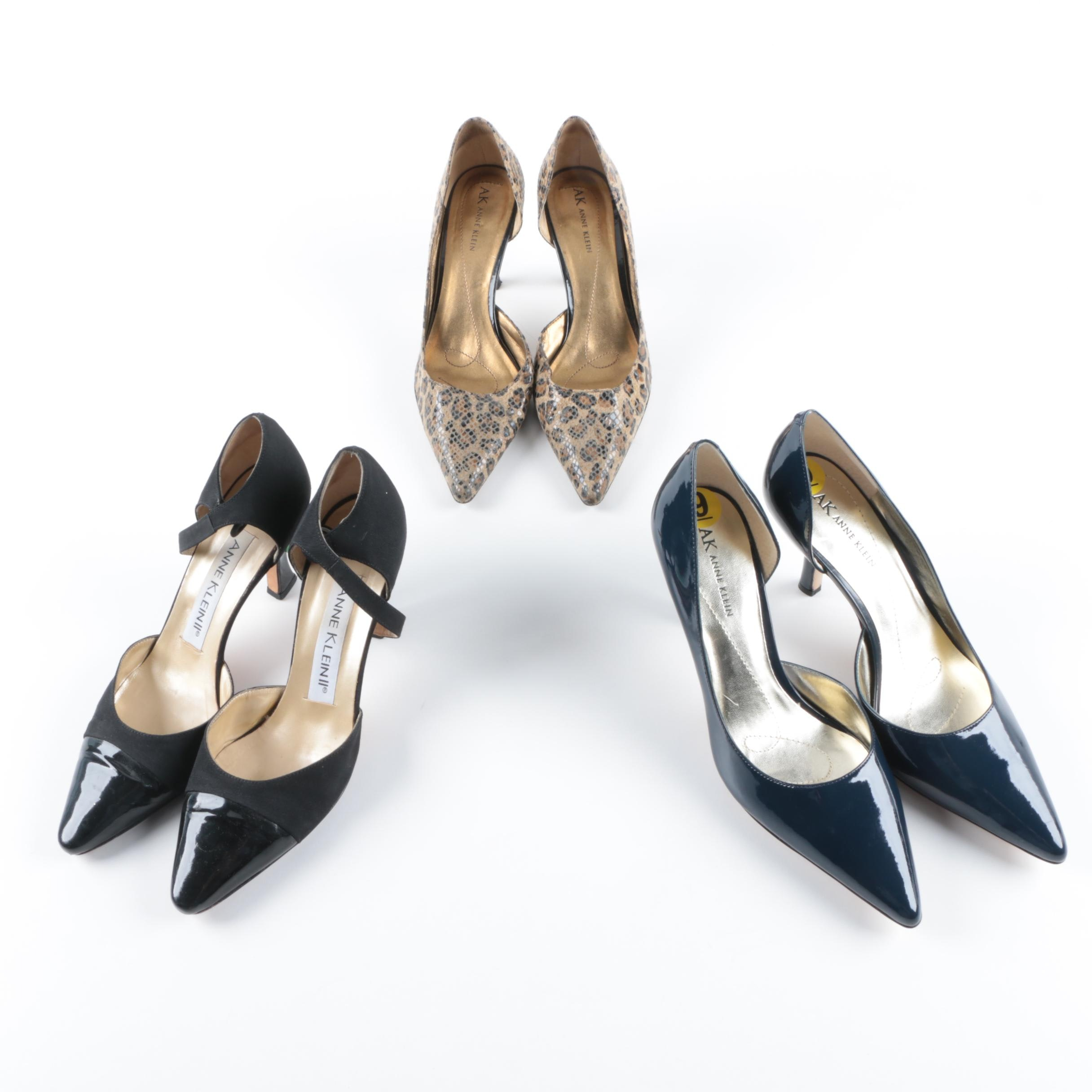 Anne Klein Pointed Toe Heels Including Animal Print