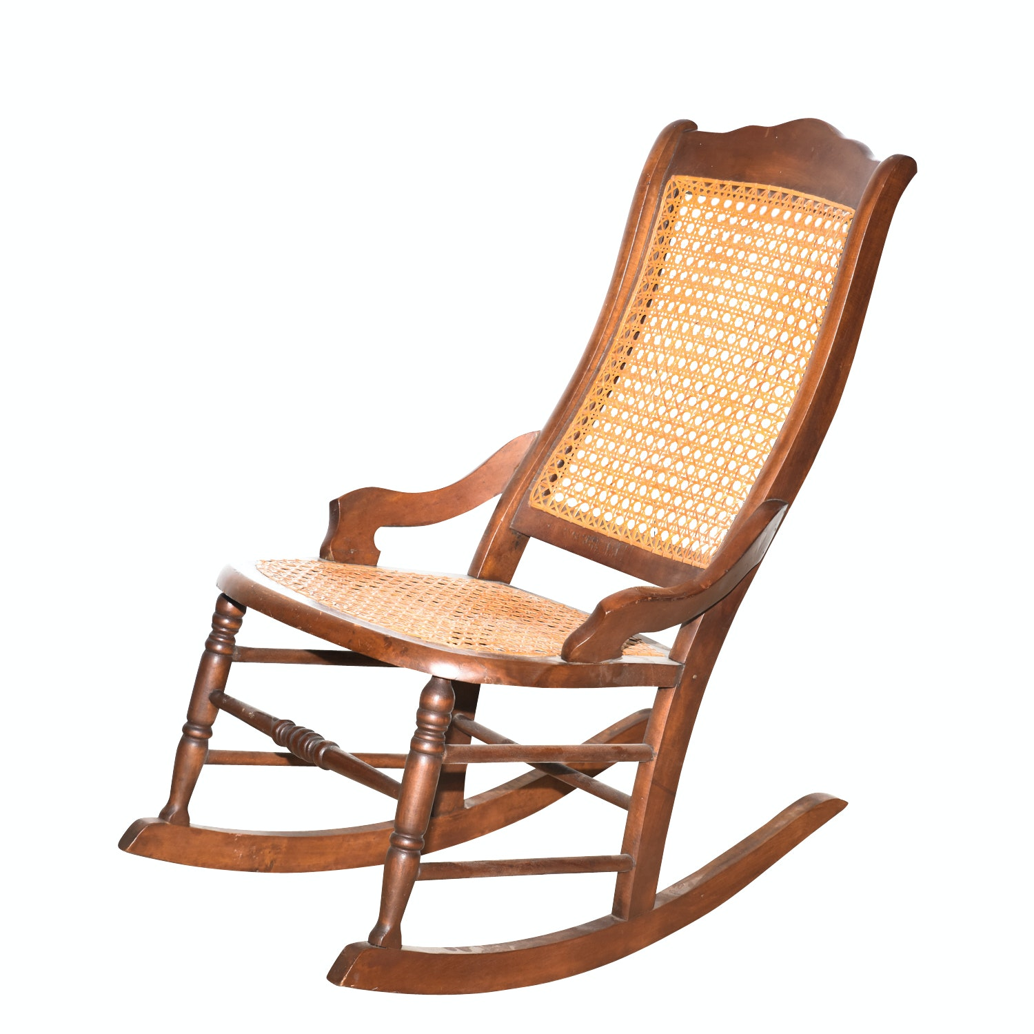 Vintage Caned Rocking Chair