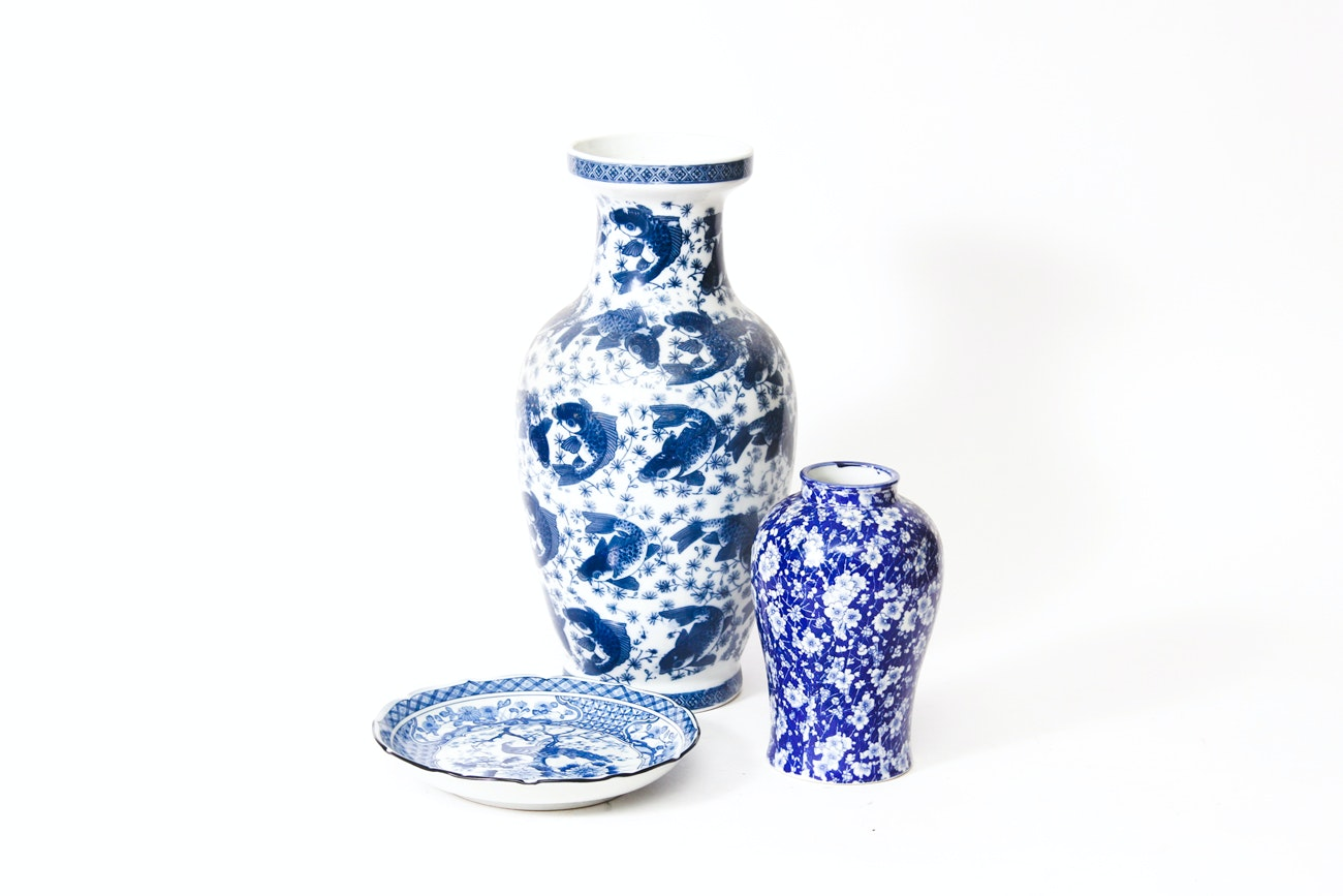 East Asian Blue and White Ceramicware