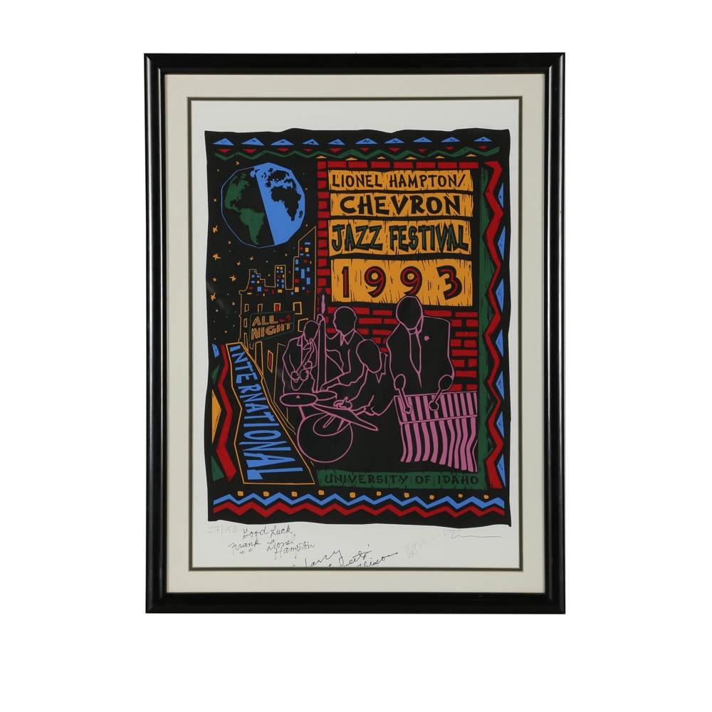 "Serigraph Poster ""1993 Chevron Jazz Festival"""