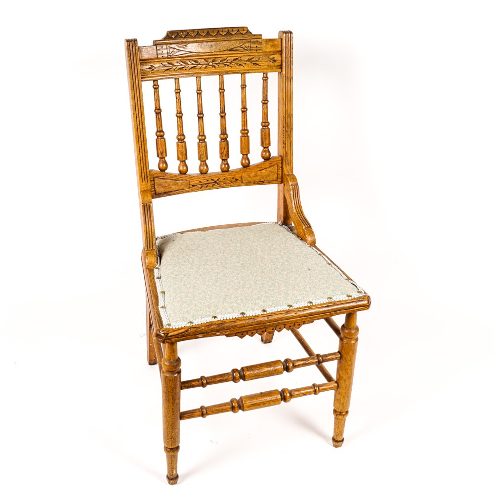 Antique Eastlake Oak Chair