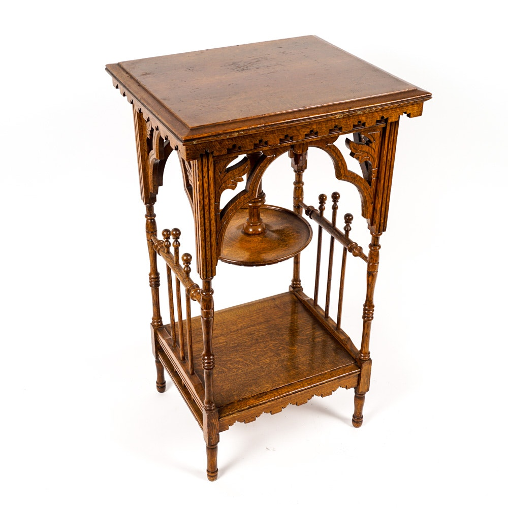 Antique Eastlake Oak Side Table