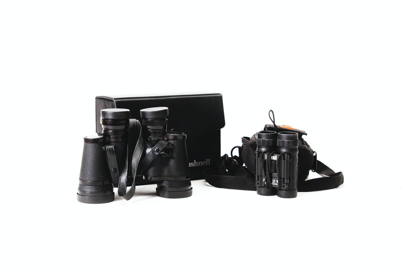 Bushnell Binoculars with Cases