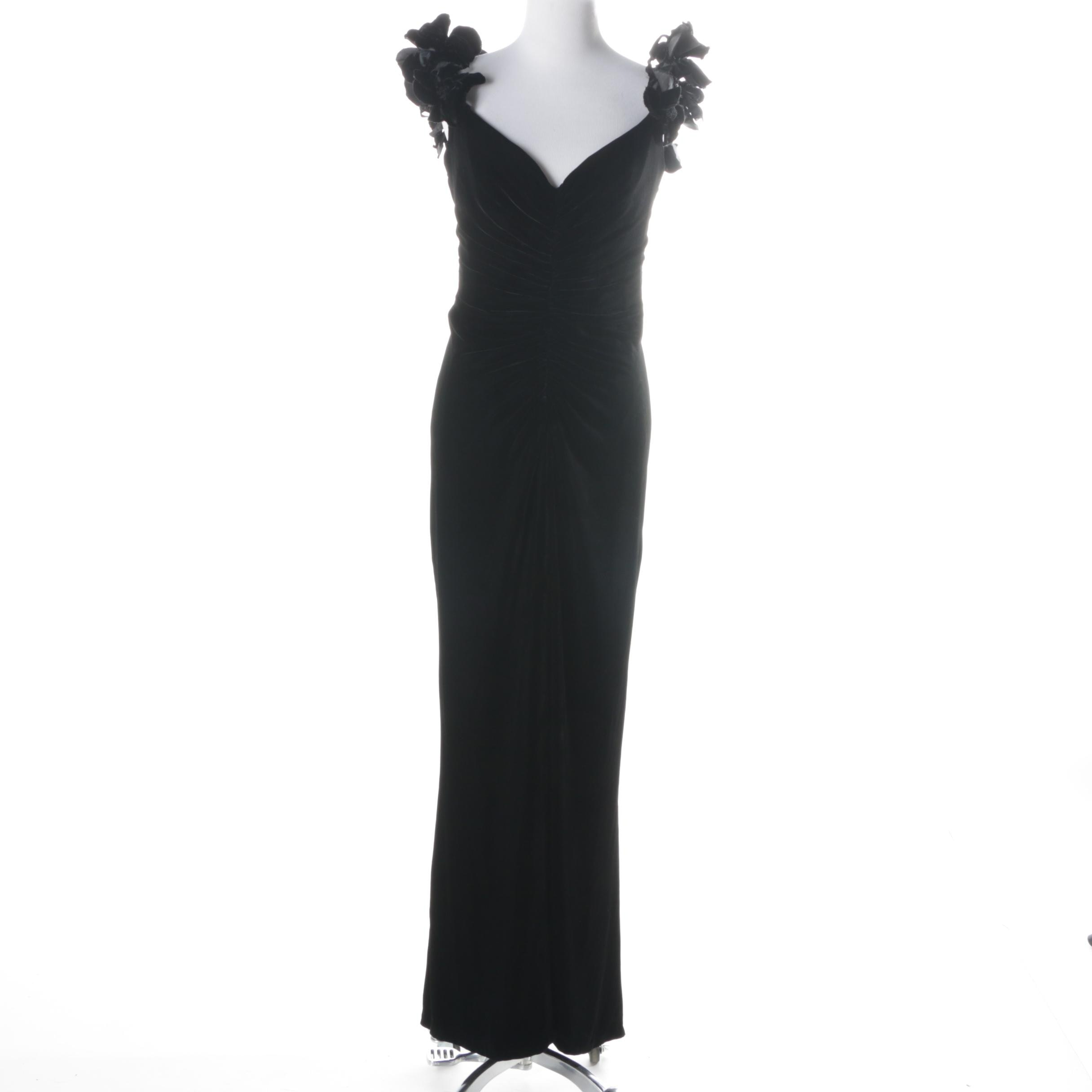 Bellville Sassoon Lorcan Mullany Black Velvet Gown