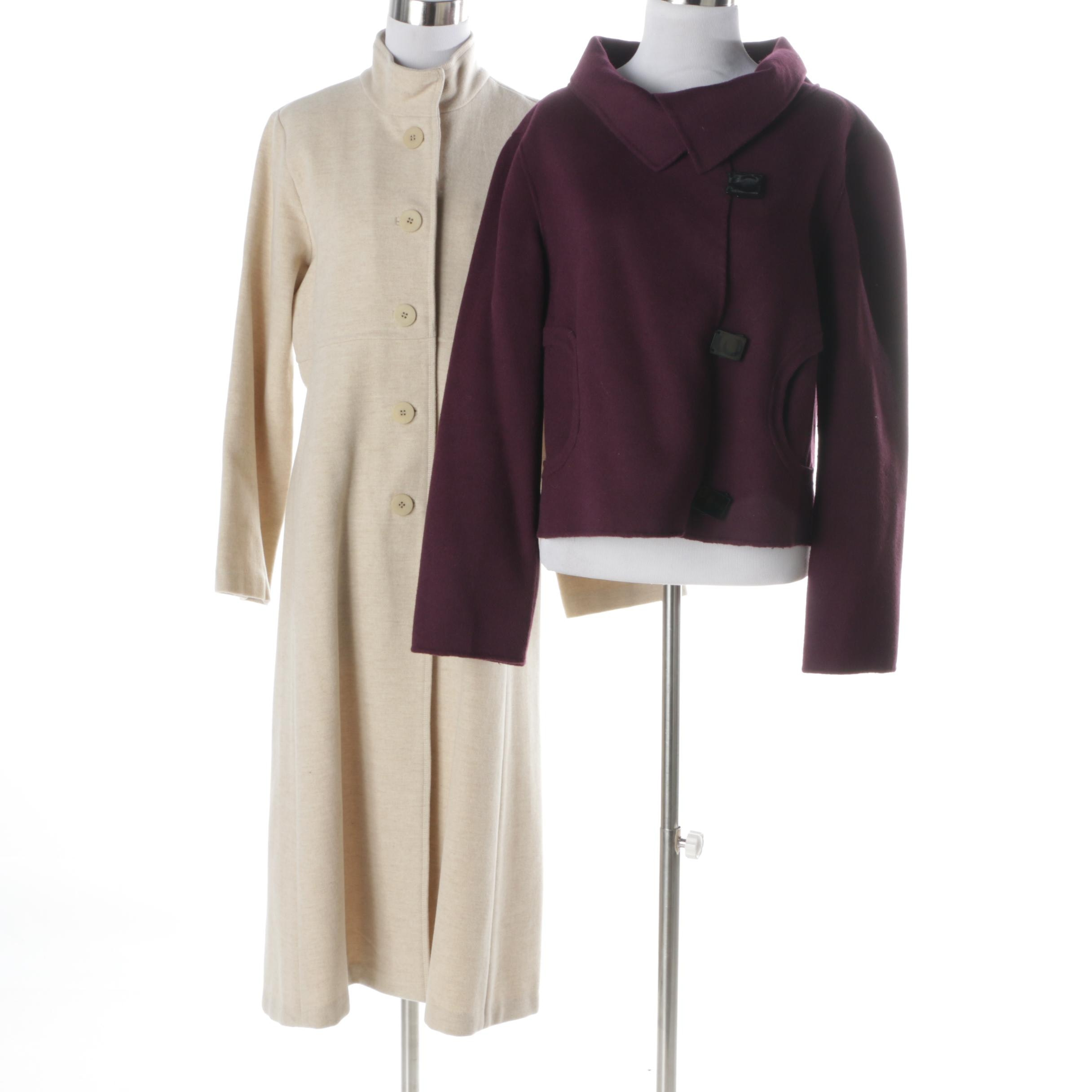 Women's Eileen Fisher Petite Coat and Carole Little Jacket