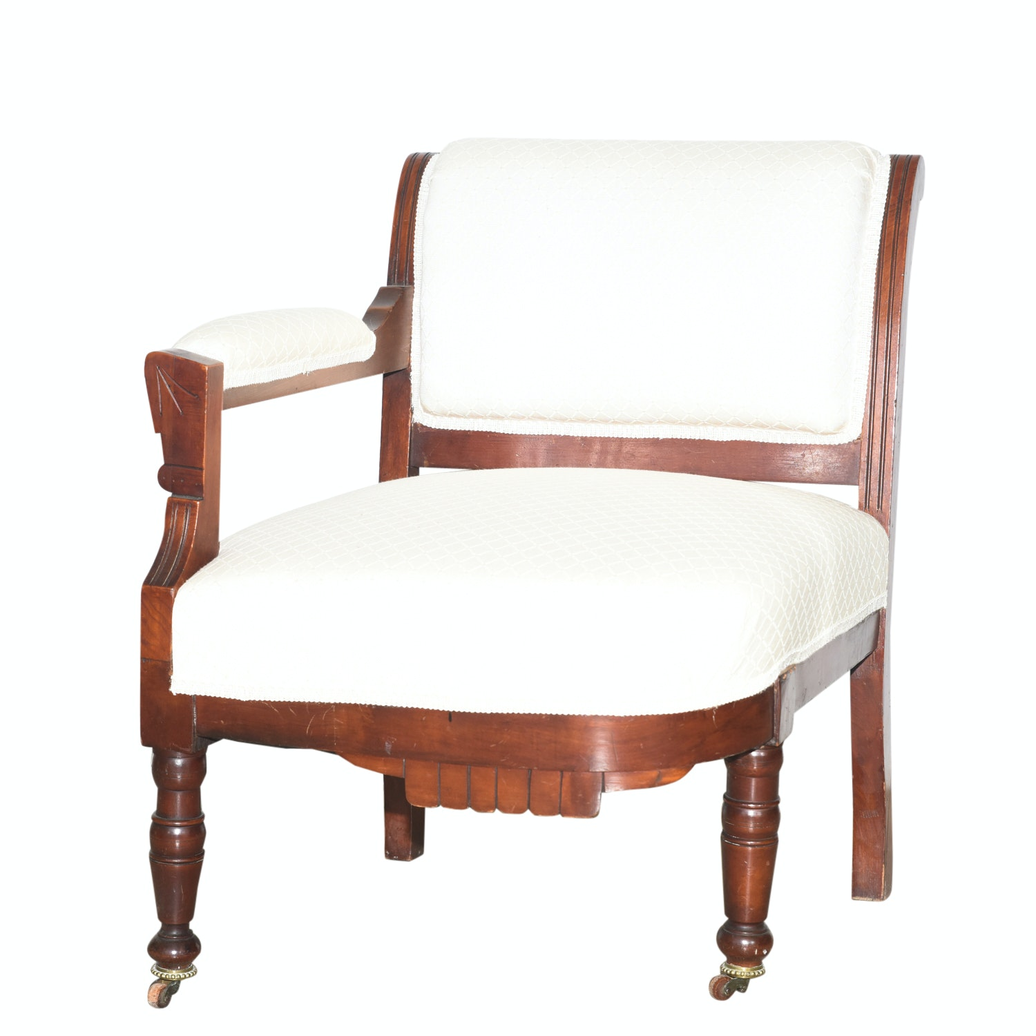 Eastlake Victorian Right-Arm Parlor Chair