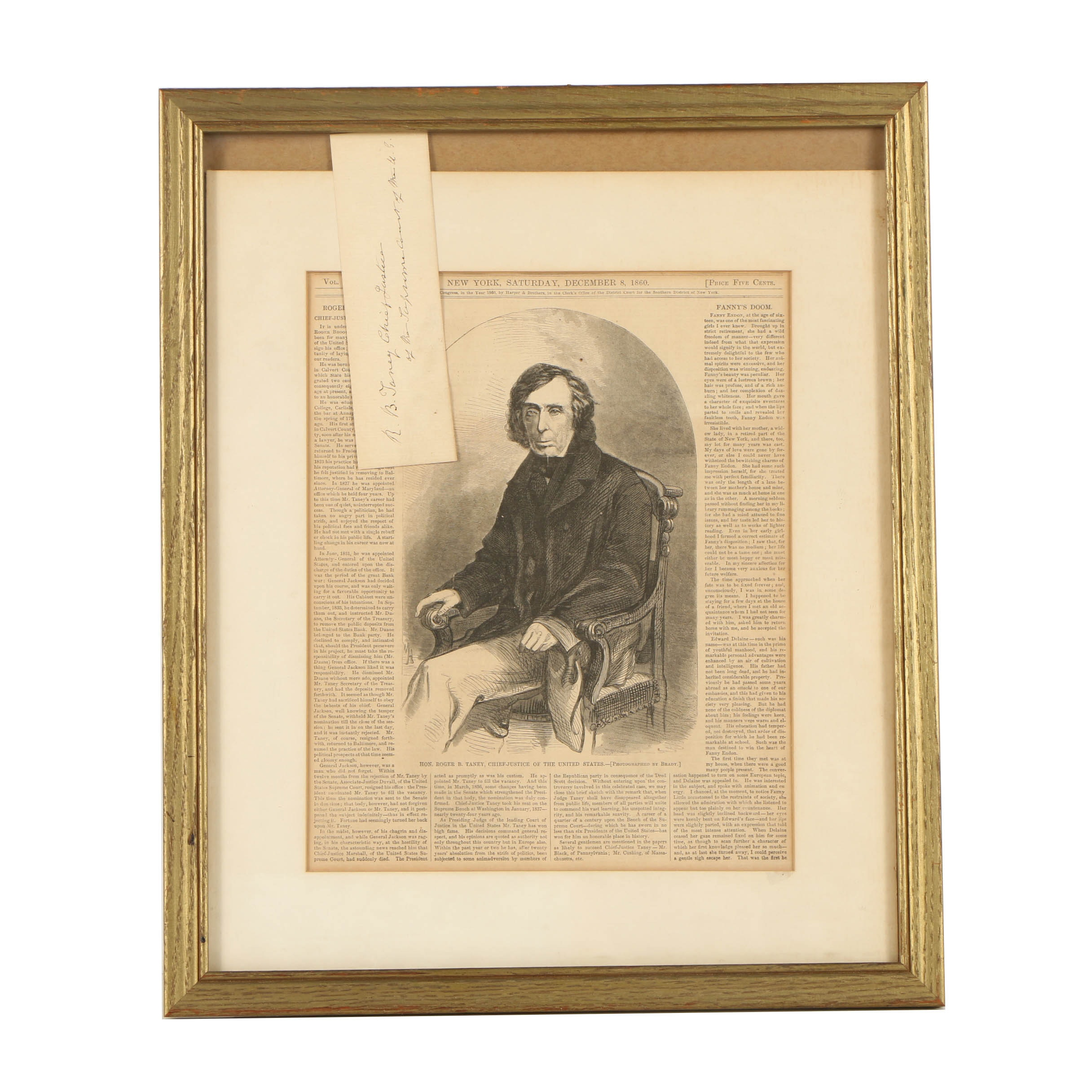 Harper & Brothers Chief-Justice Roger B. Taney