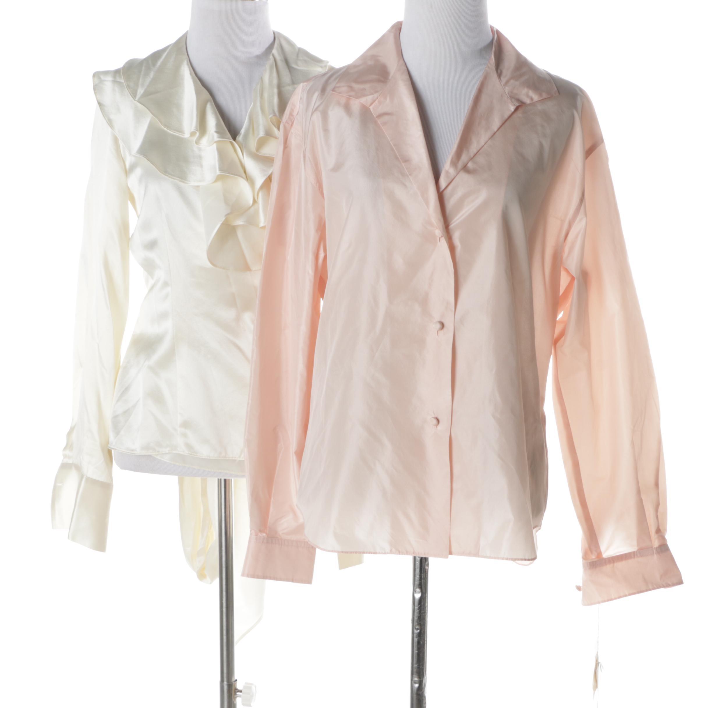 Women's Lauren Ralph Lauren and Calvin Klein Silk Blouses