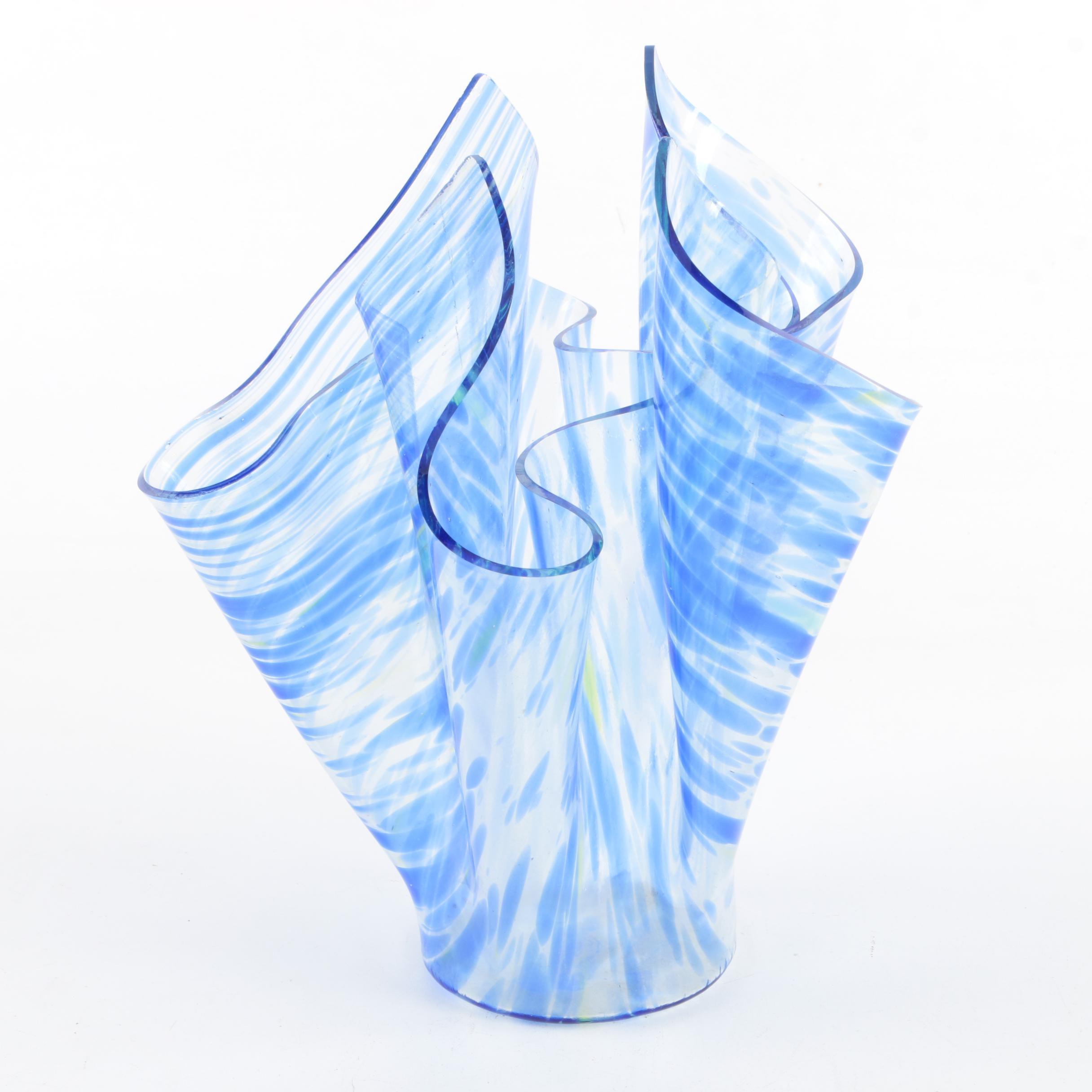 Handkerchief Art Glass Vase