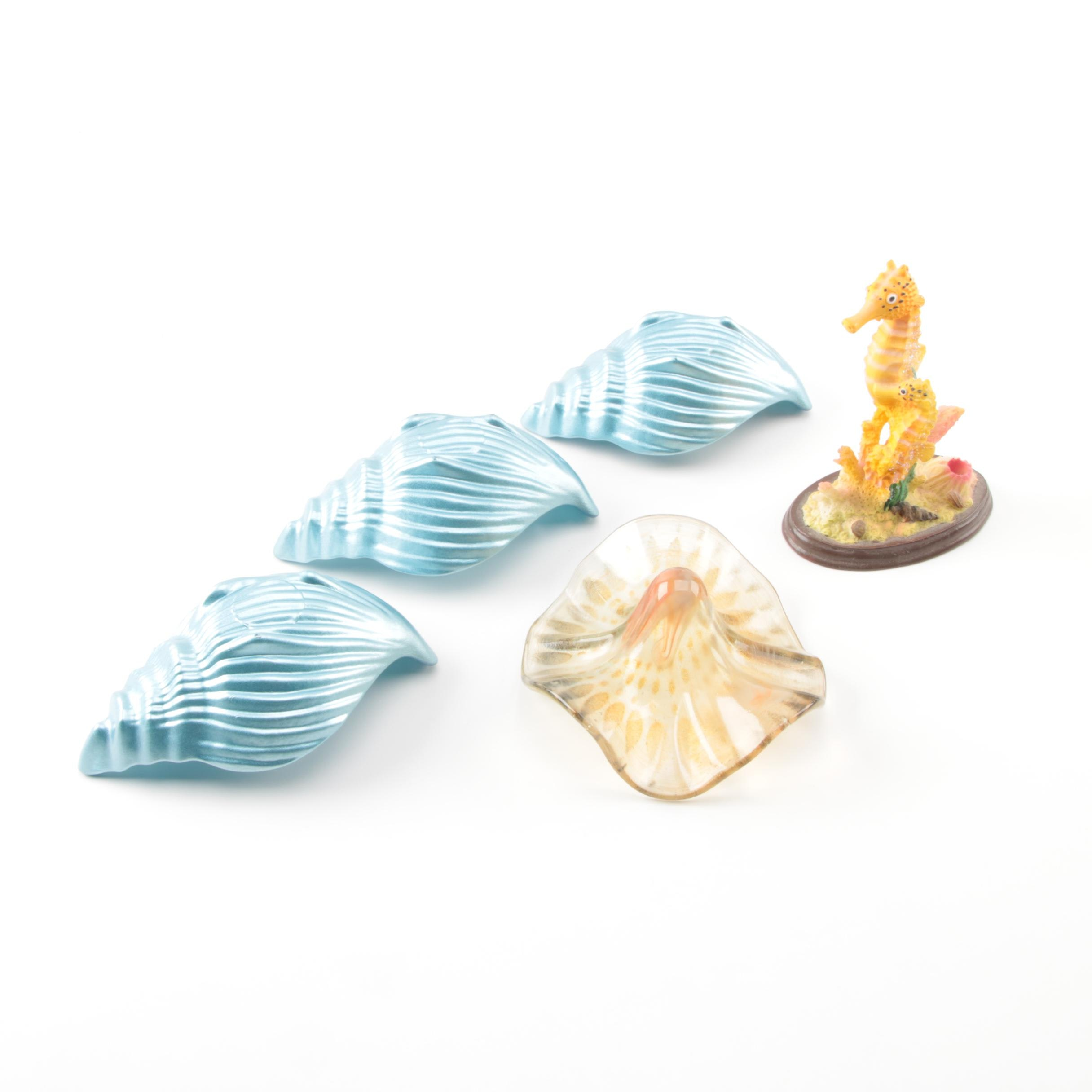 Shell and Seahorse Decorative Figures