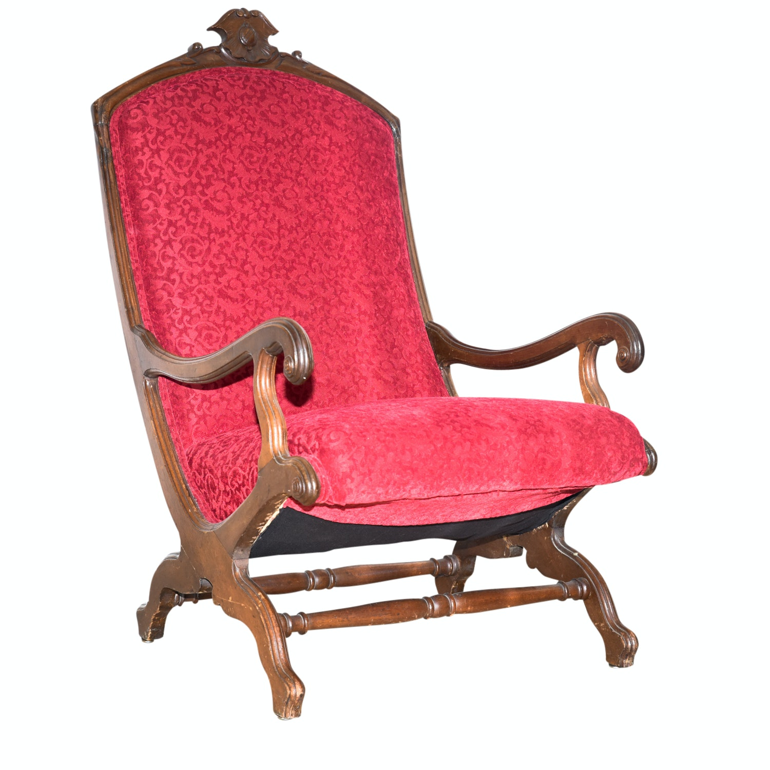 Antique American Classical Mahogany Armchair