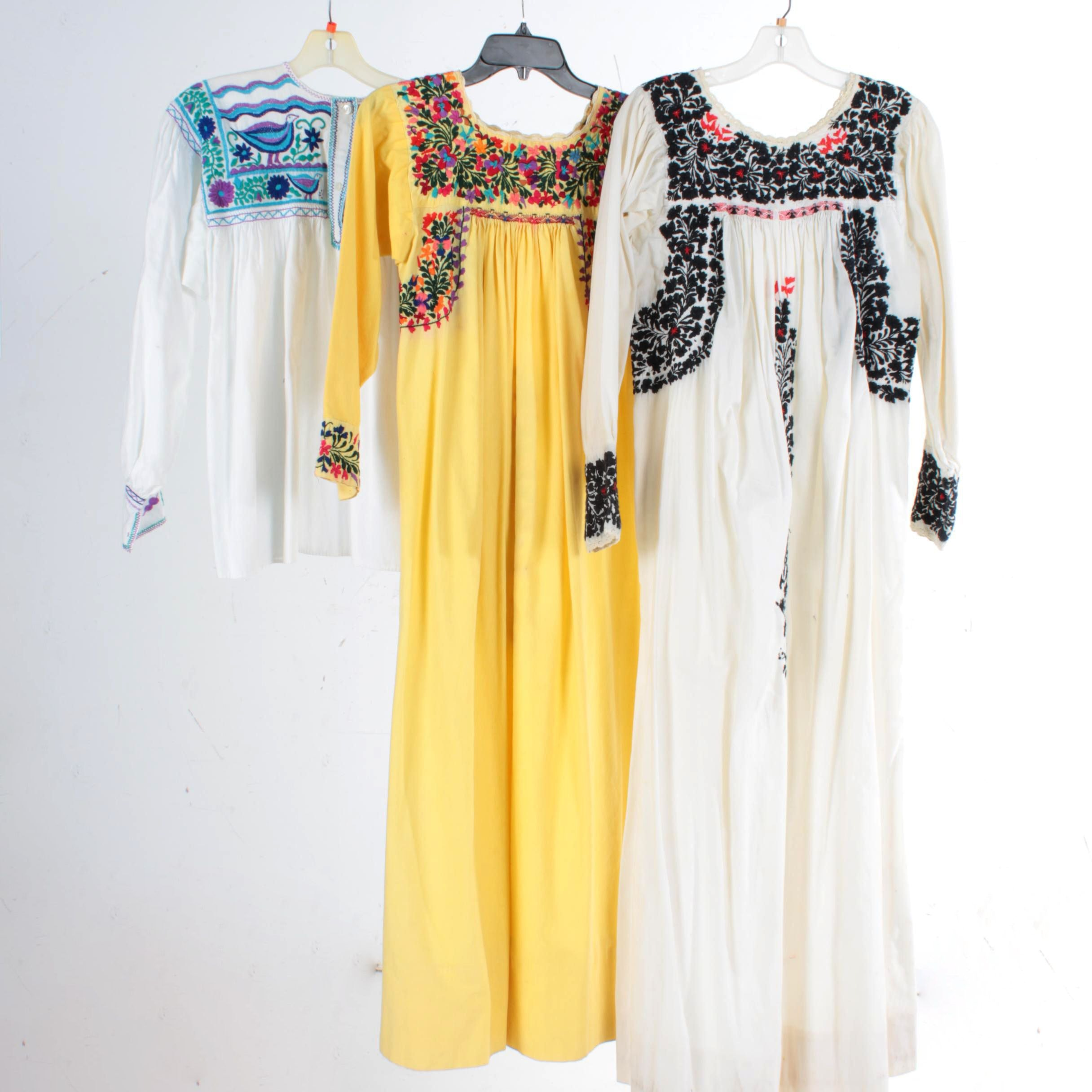 Women's Embroidered Folk Dresses and Peasant Blouse