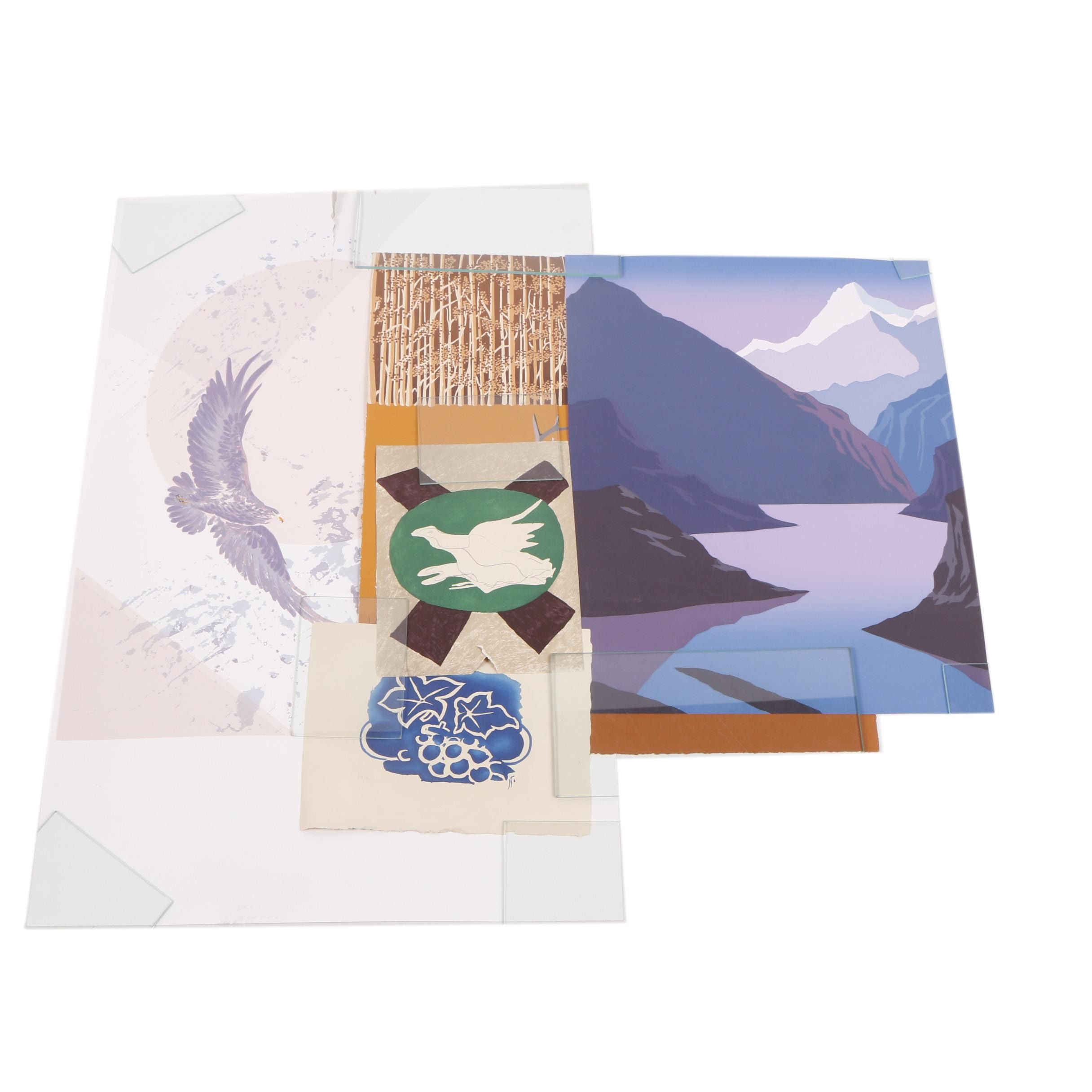 Late 20th-Century Serigraph Prints Including After Georges Braque