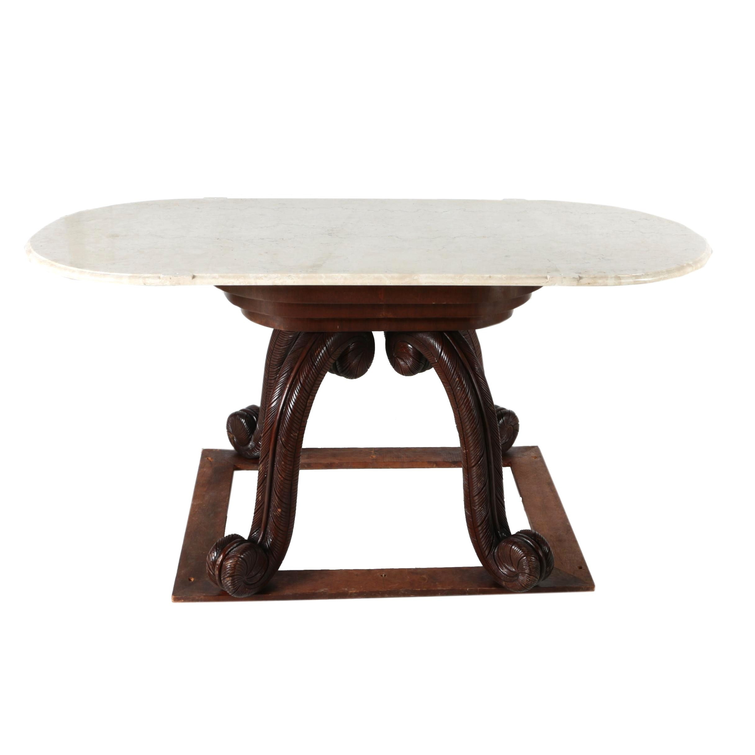 Vintage Victorian Style Dining Table
