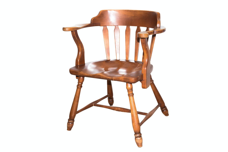 Vintage Captain's Chair by J.B. Van Sciver Co.