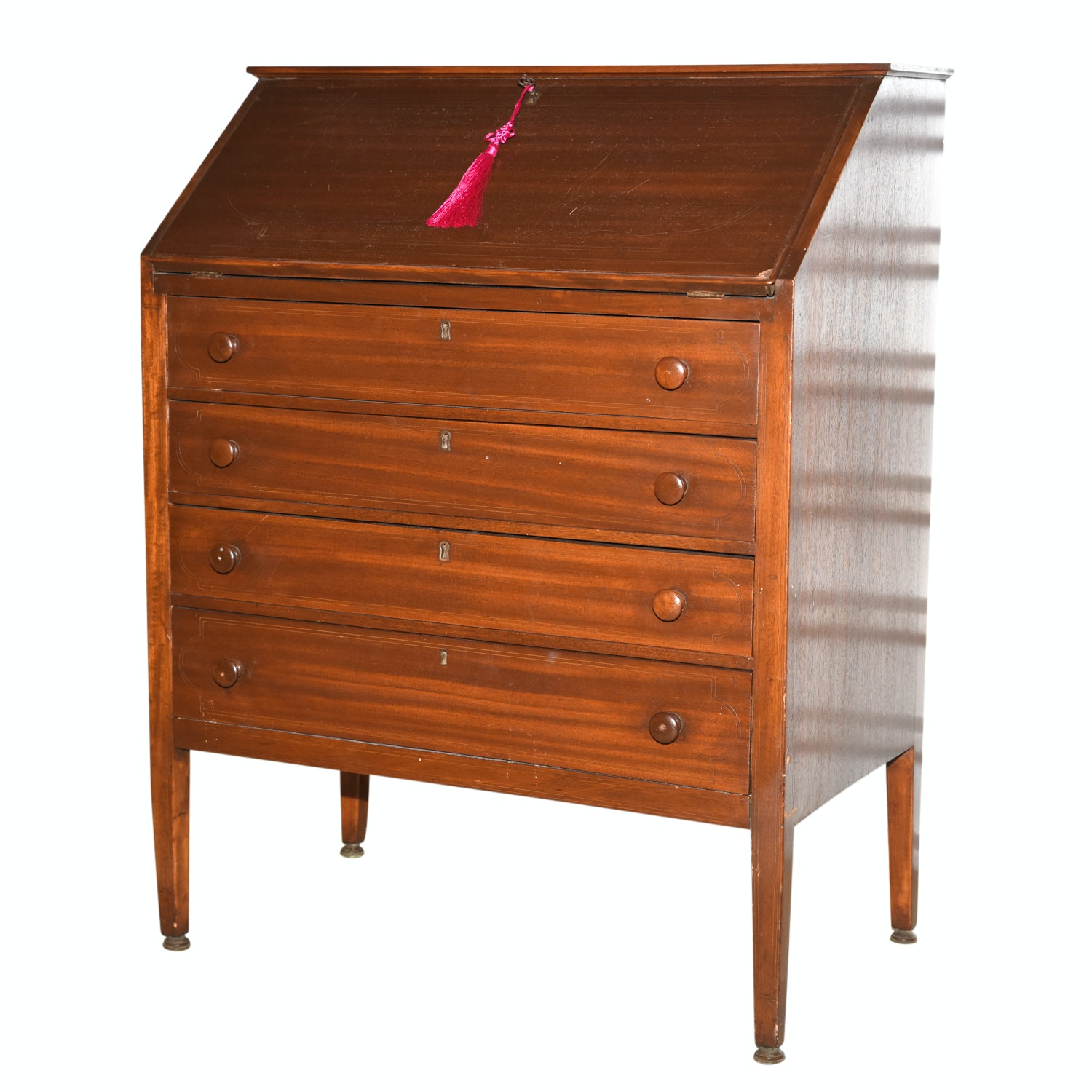 Mahogany Slant Front Secretary Chest