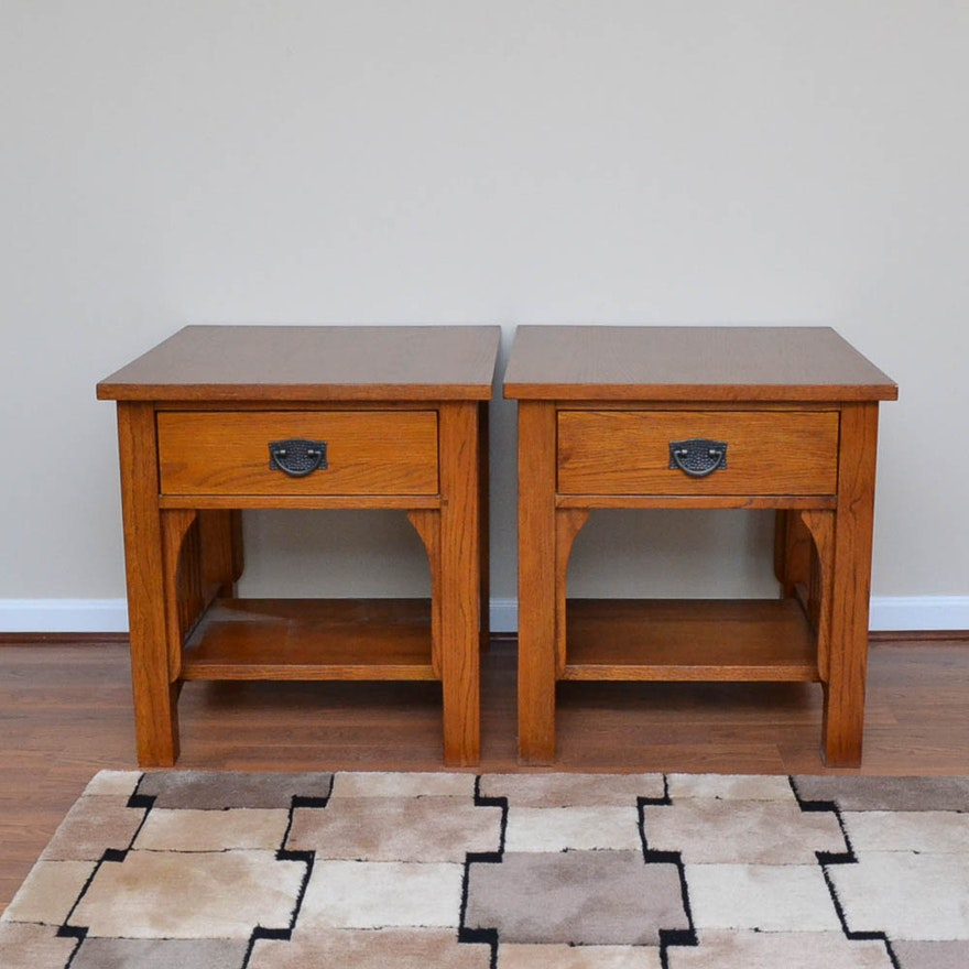 Thomasville Impressions Mission Style Oak End Tables