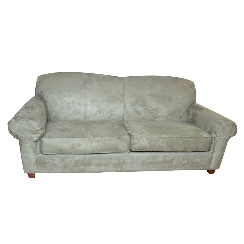 Sage Microfiber Sofa By Thomasville ...