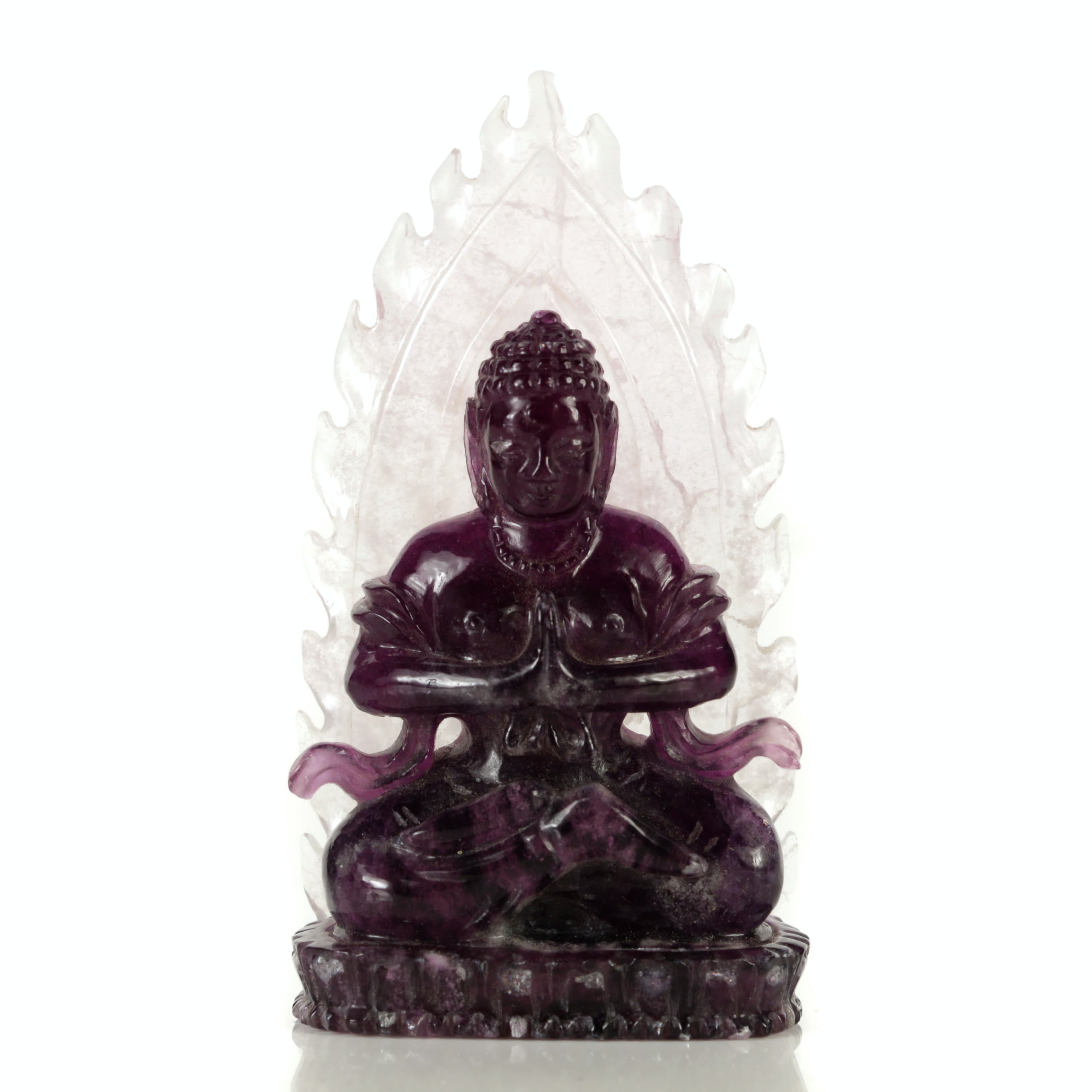 Chinese Carved Fluorite Buddha Figurine