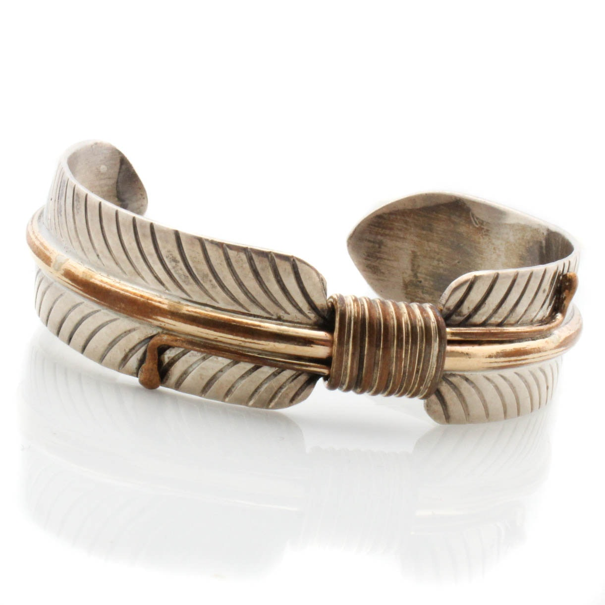 Lee Bennett Sterling Silver Gold Filled Cuff