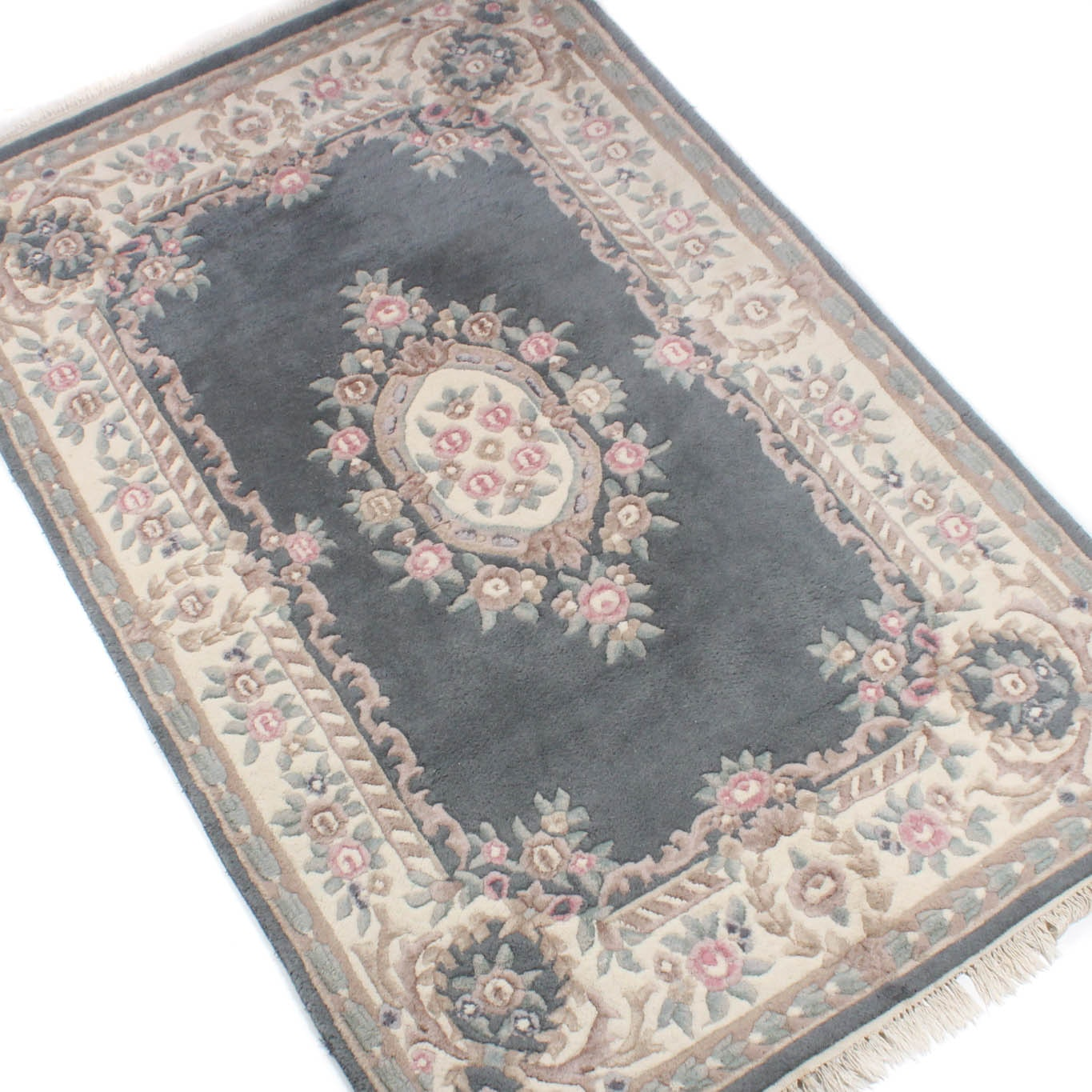 Power Loomed Chinese Style Sculpted Wool Area Rug