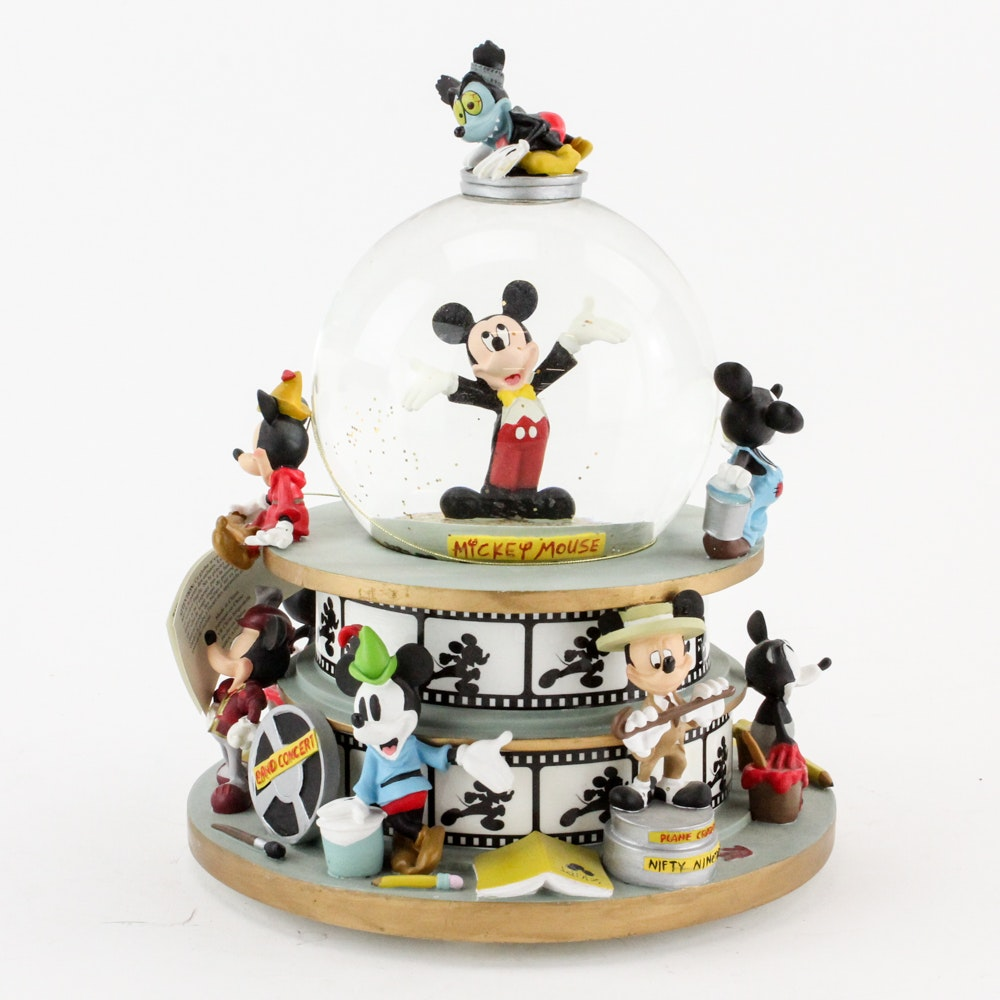 """Disney """"Mickey Mouse Club March"""" Musical Snowglobe"""
