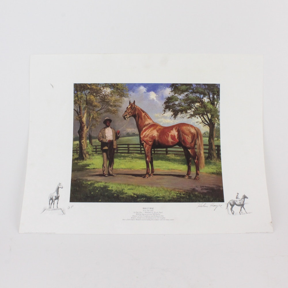 Two Off-Set Lithographs by Helen Hayse