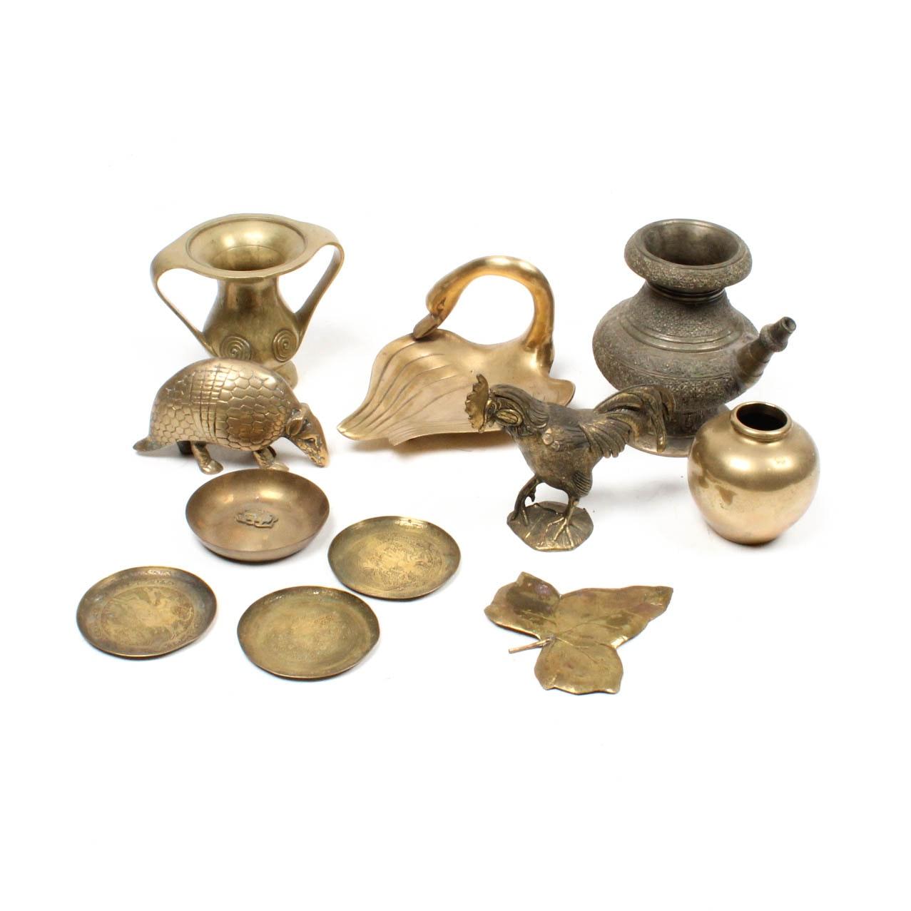Assorted Brass Home Decor