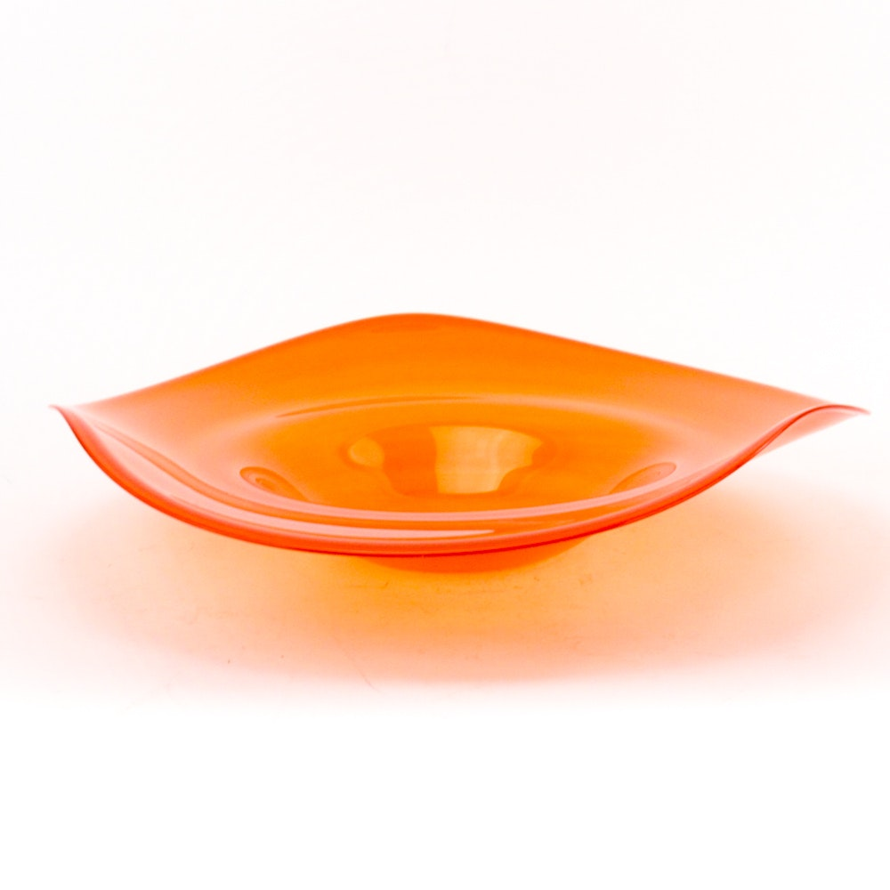 Mid Century Modern Style Freeform Glass Bowl