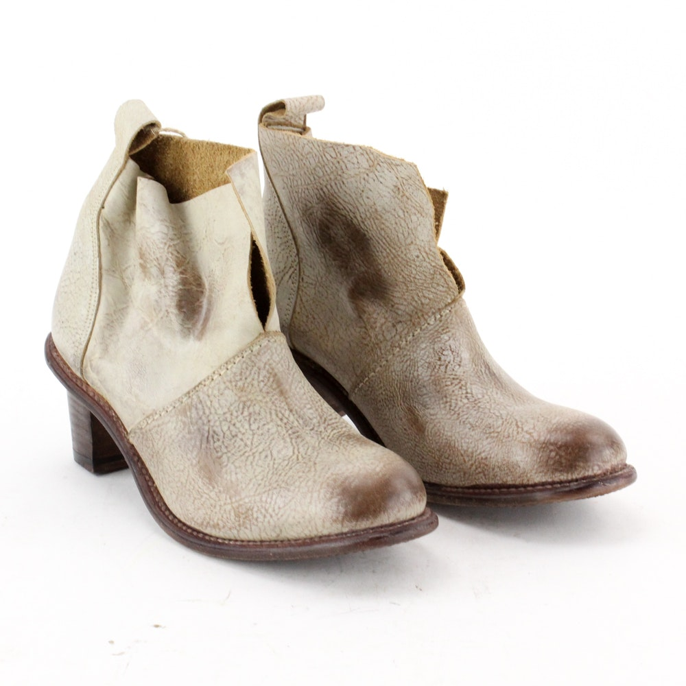 Bed Stu Intentionally Distressed Leather Ankle Boots