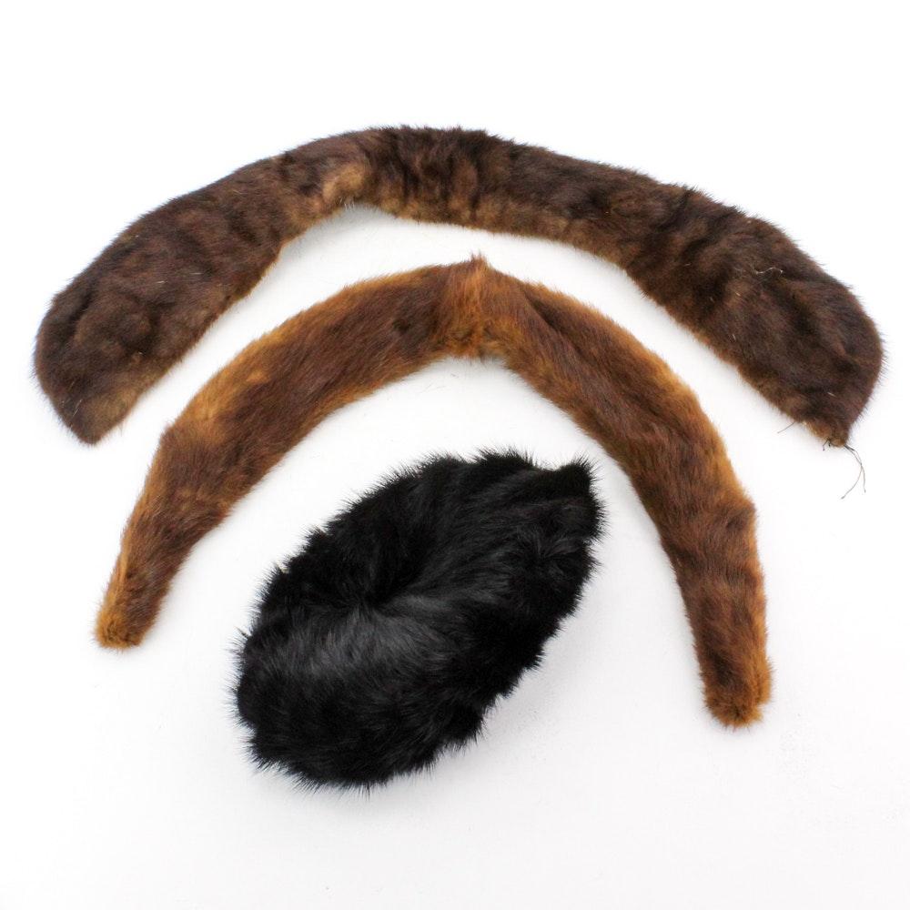 Vintage Mink Hat and Fur Collars