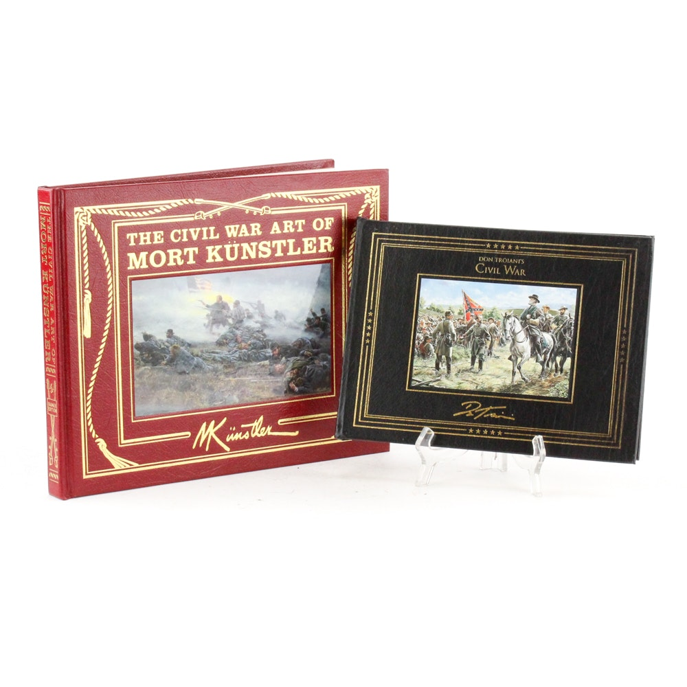 Signed Collector's Edition American Civil War Art Books